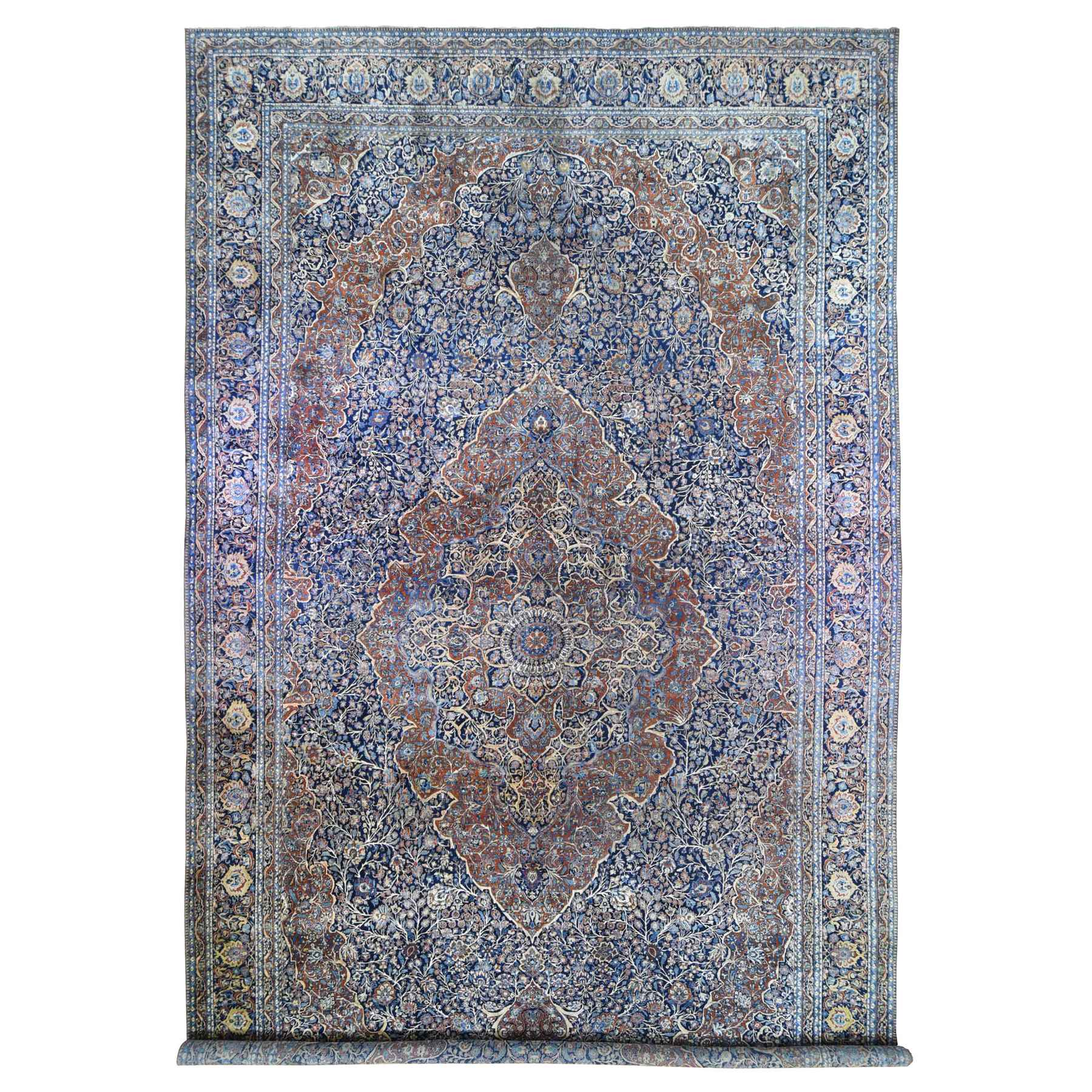 Antique Collection Hand Knotted Blue Rug No: 1133672