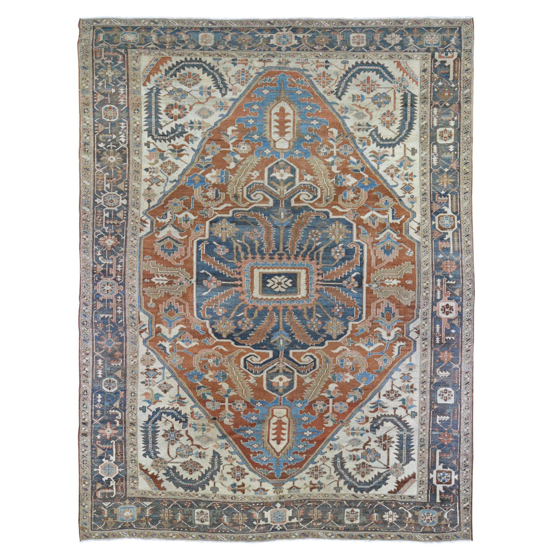 Antique Collection Hand Knotted Orange Rug No: 1133678