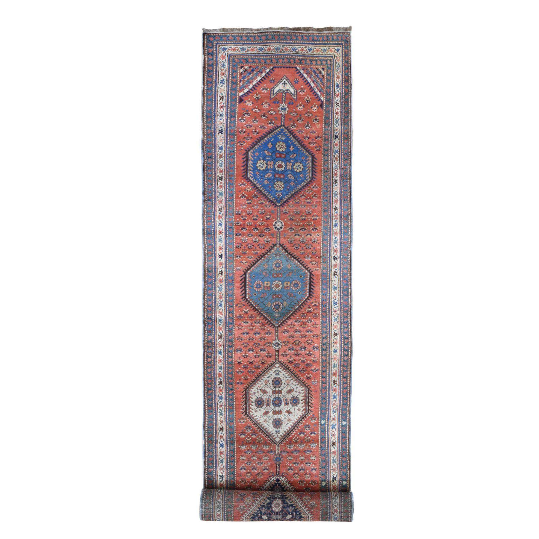 Antique Collection Hand Knotted Red Rug No: 1133682