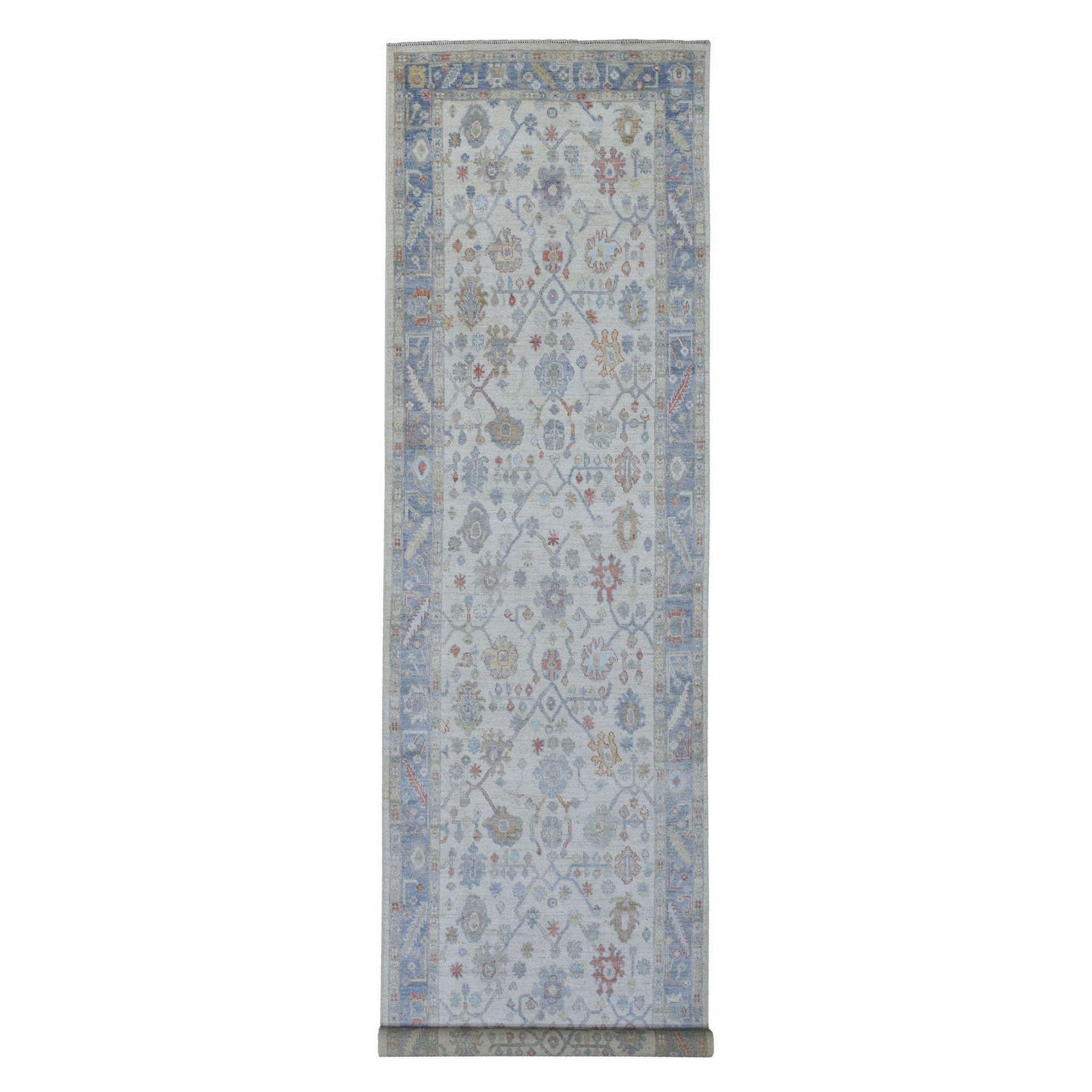 Agra And Turkish Collection Hand Knotted Ivory Rug No: 1137392