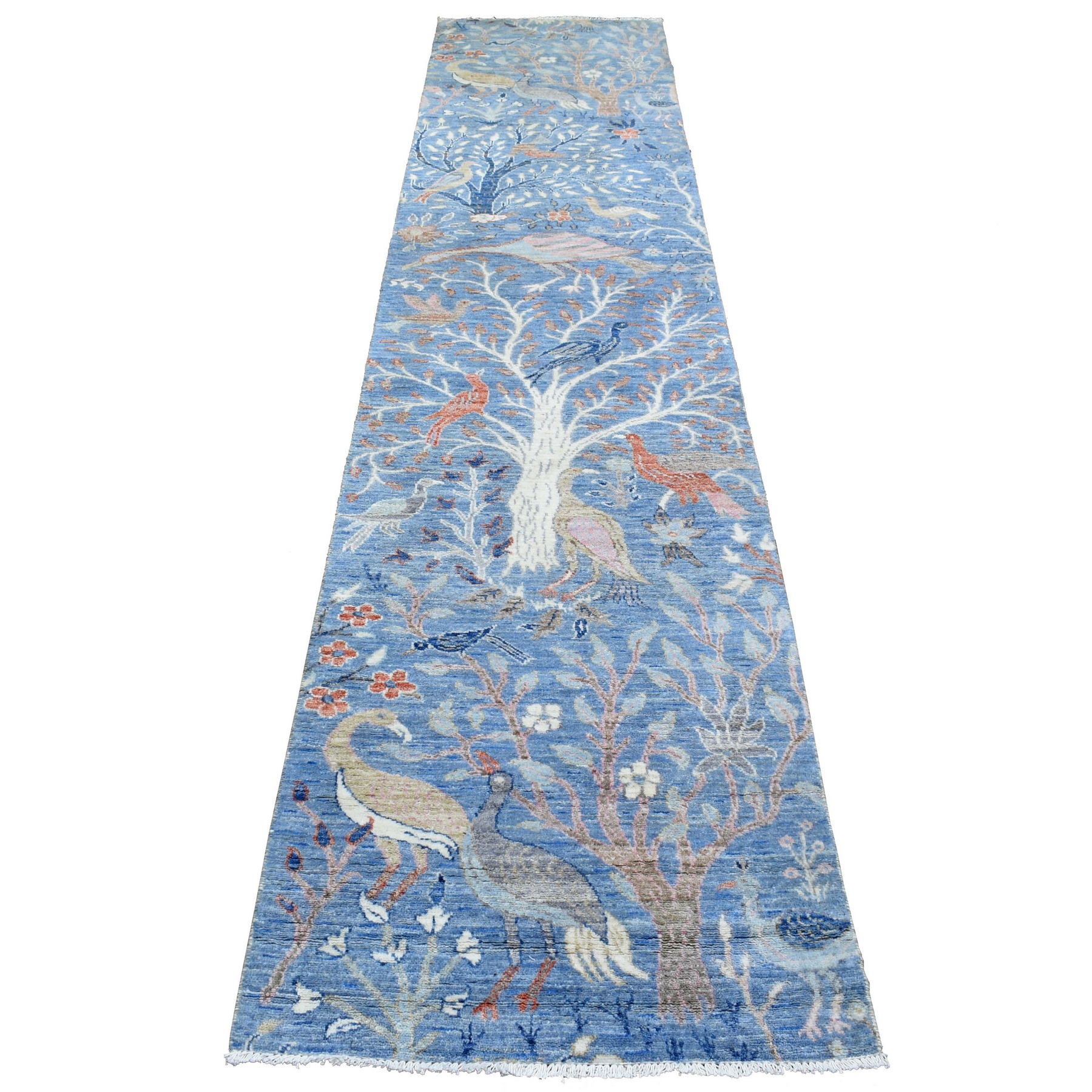 Agra And Turkish Collection Hand Knotted Blue Rug No: 1137518