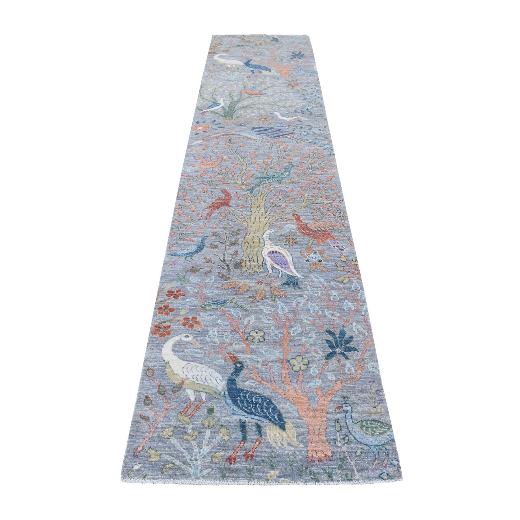 Agra And Turkish Collection Hand Knotted Grey Rug No: 1137464