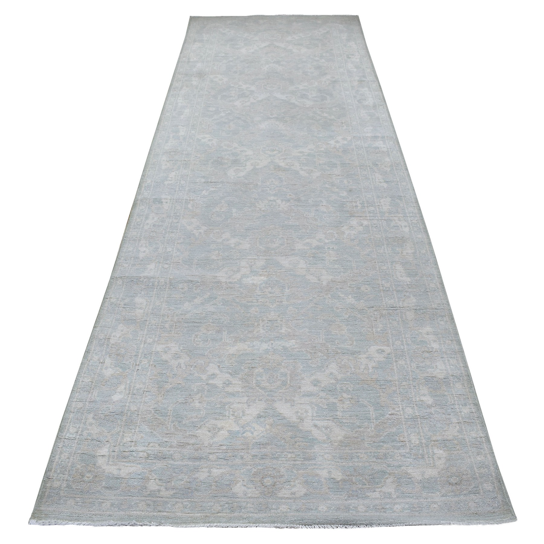 Agra And Turkish Collection Hand Knotted Grey Rug No: 1137474