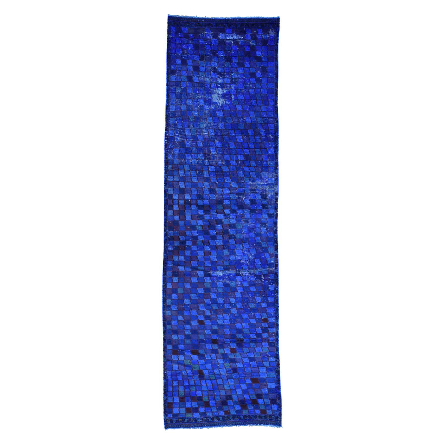 Fetneh Collection And Vintage Overdyed Collection Hand Knotted Blue Rug No: 162322