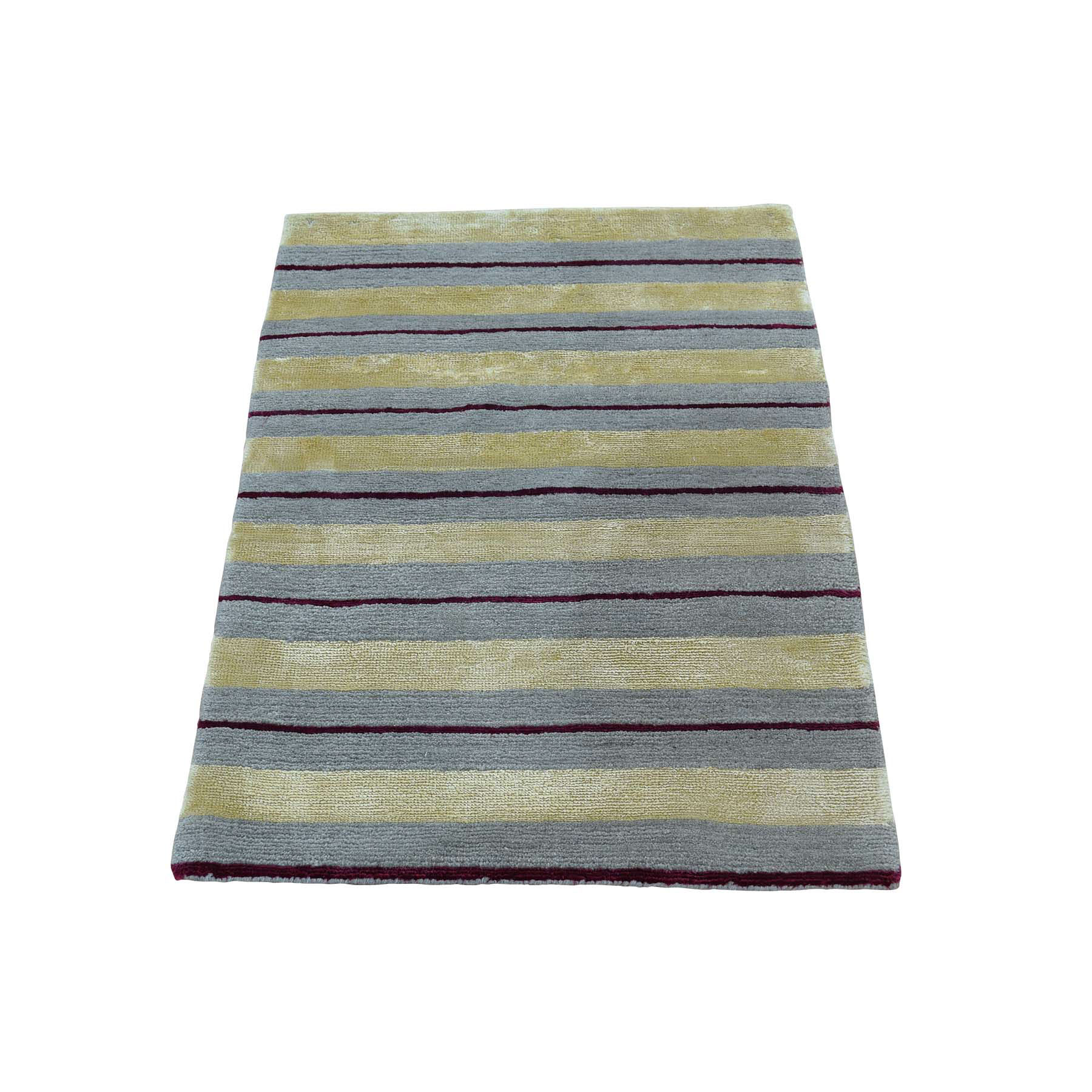 Mid Century Modern Collection Hand Knotted Multicolored Rug No: 0172406
