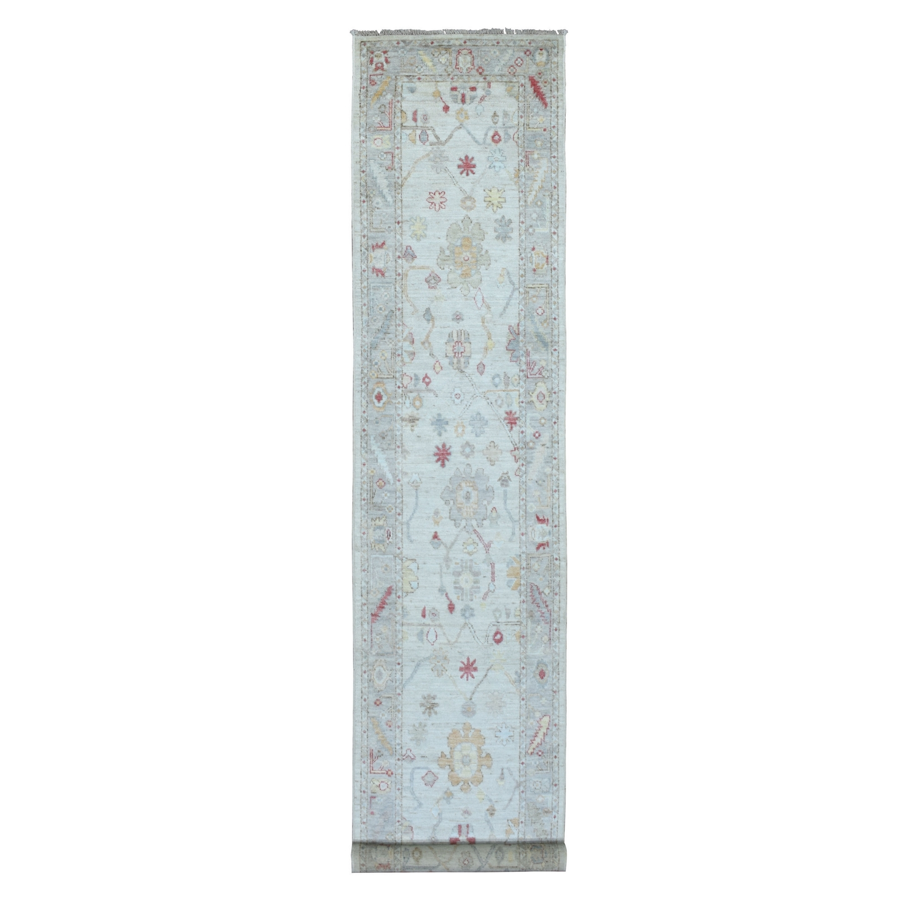 Agra And Turkish Collection Hand Knotted Ivory Rug No: 1136510