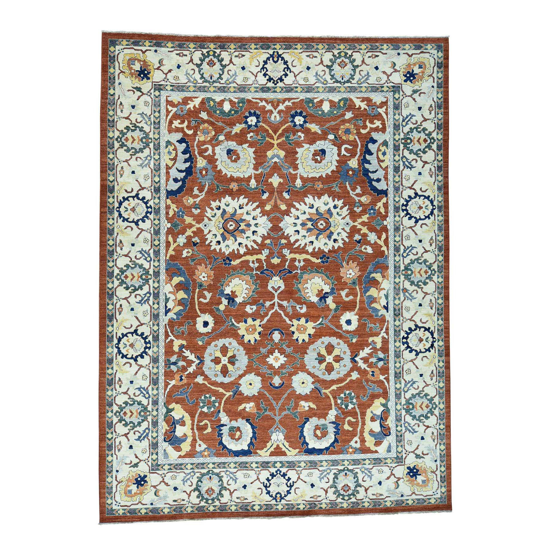Agra And Turkish Collection Hand Knotted Red Rug No: 0173114