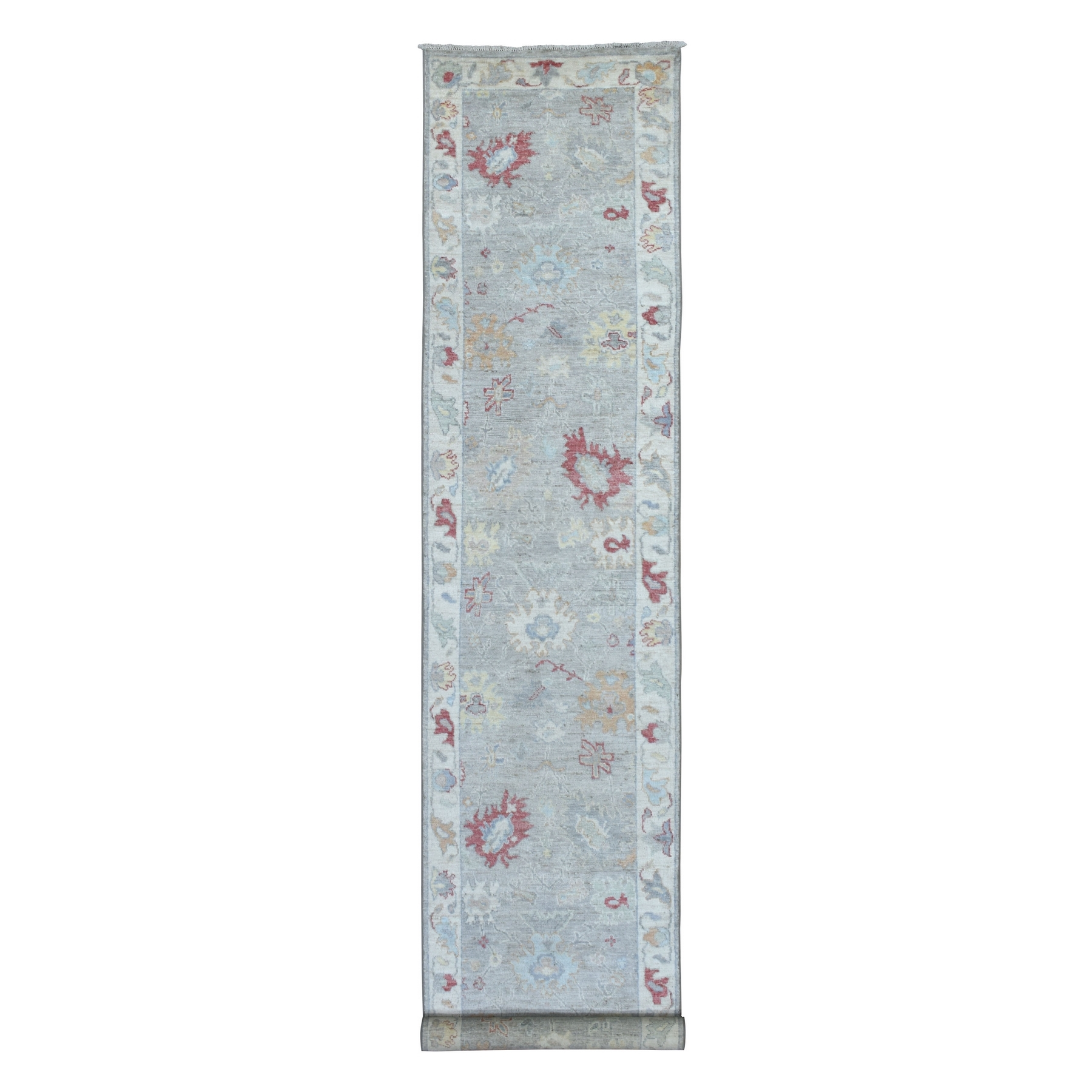 Agra And Turkish Collection Hand Knotted Grey Rug No: 1136506