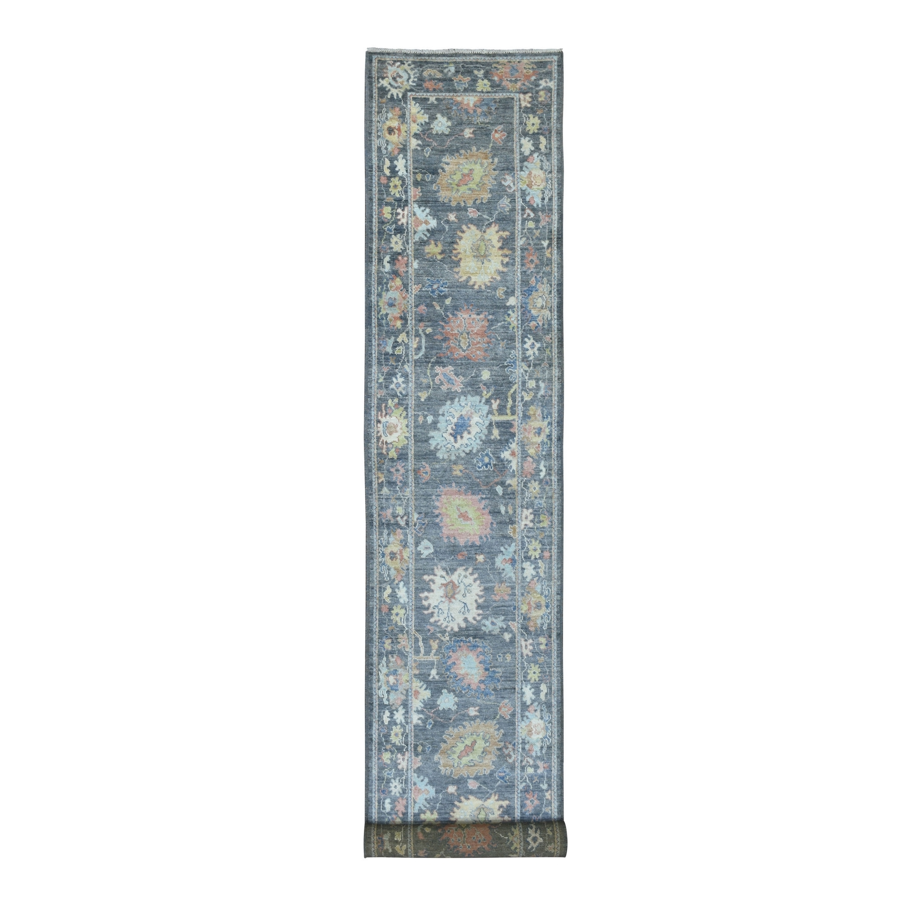 Agra And Turkish Collection Hand Knotted Grey Rug No: 1136508