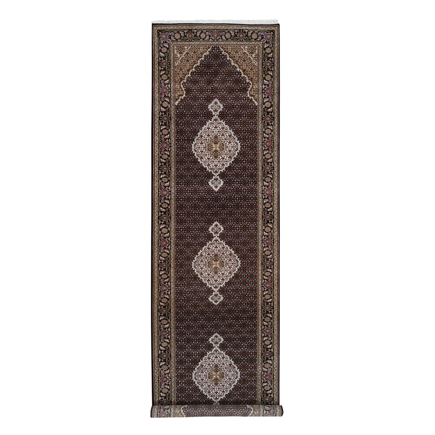 Pirniakan Collection Hand Knotted Black Rug No: 1126584