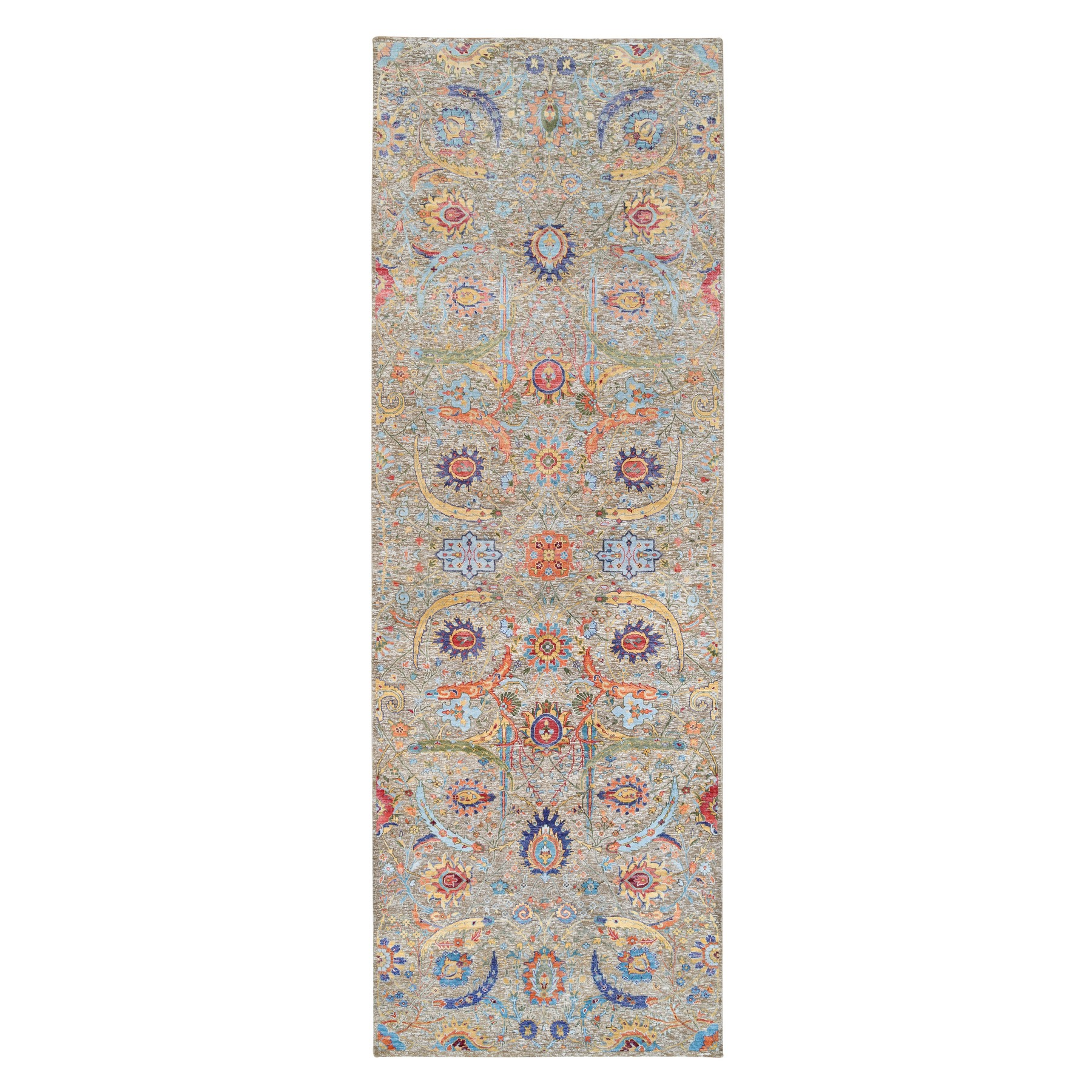 Transitional Hand Knotted Beige Rug No: 1126430