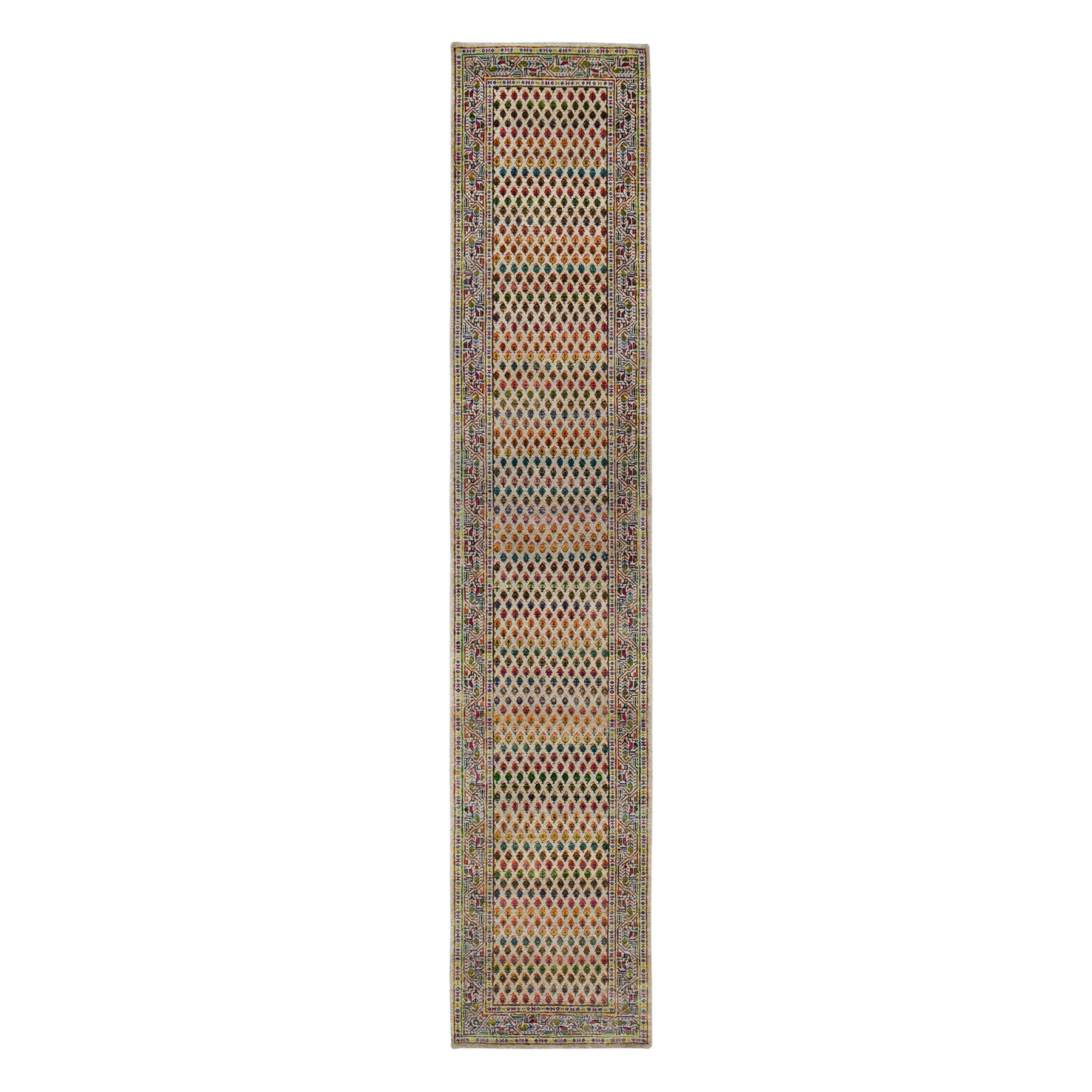 Mid Century Modern Collection Hand Knotted Beige Rug No: 1126436