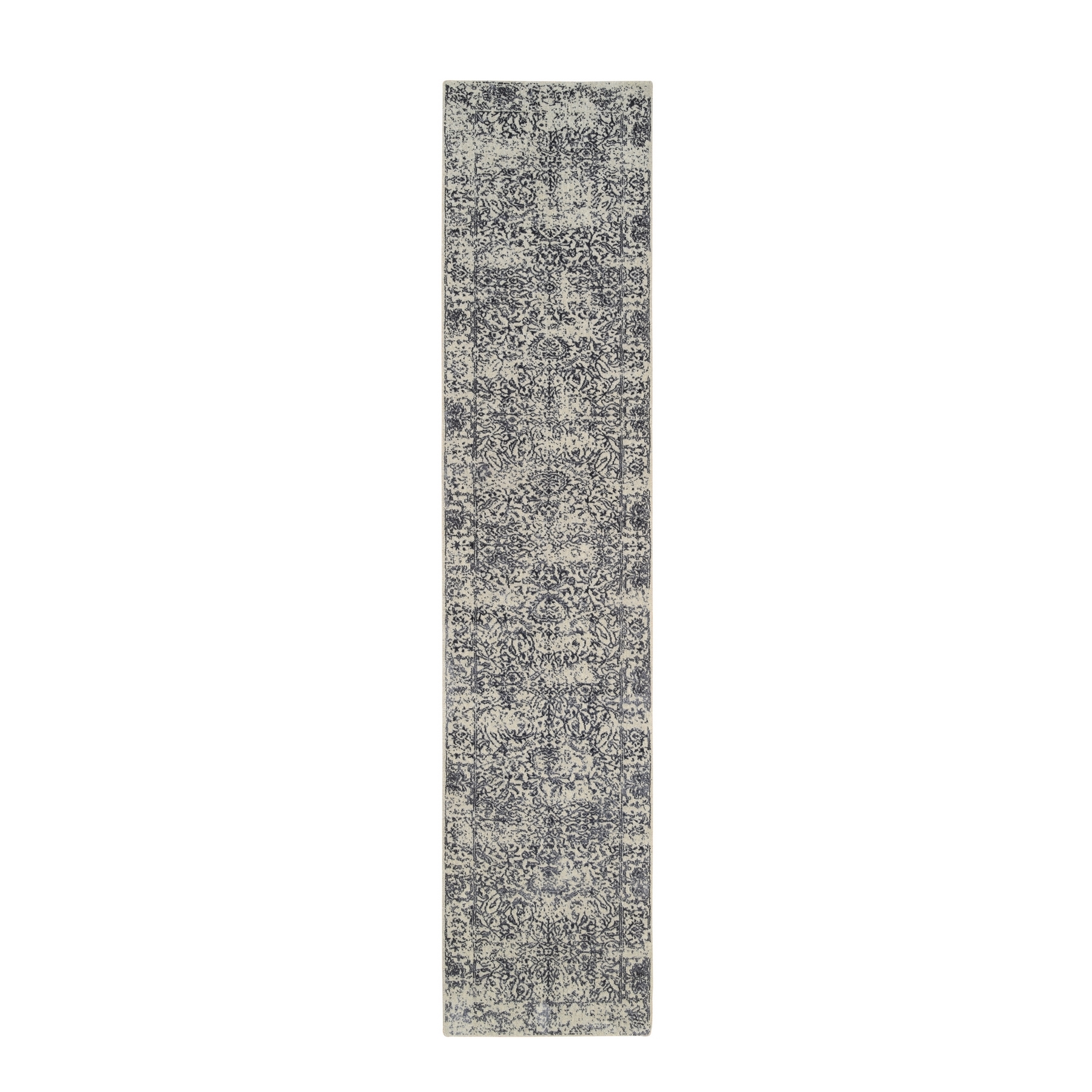 Mid Century Modern Collection Hand Loomed Grey Rug No: 1126554