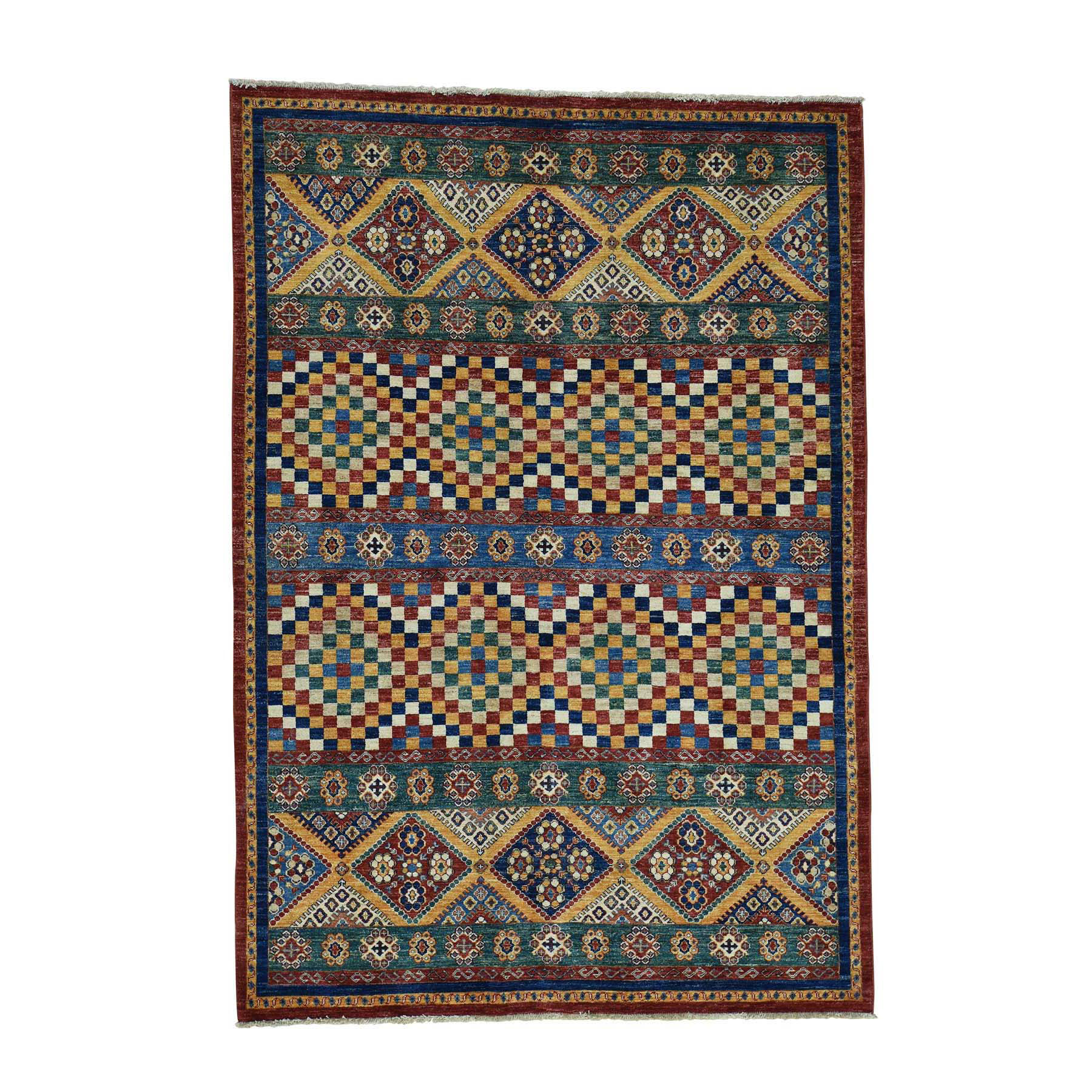 Caucasian Collection Hand Knotted Multicolored Rug No: 0173218