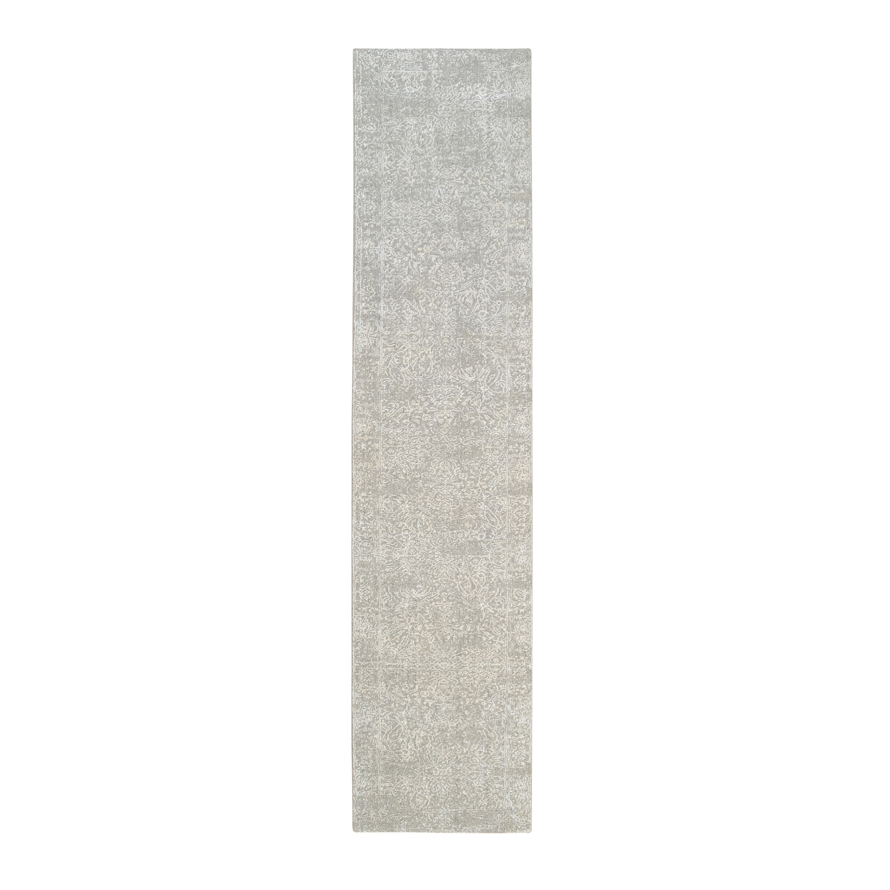 Mid Century Modern Collection Hand Loomed Grey Rug No: 1126600