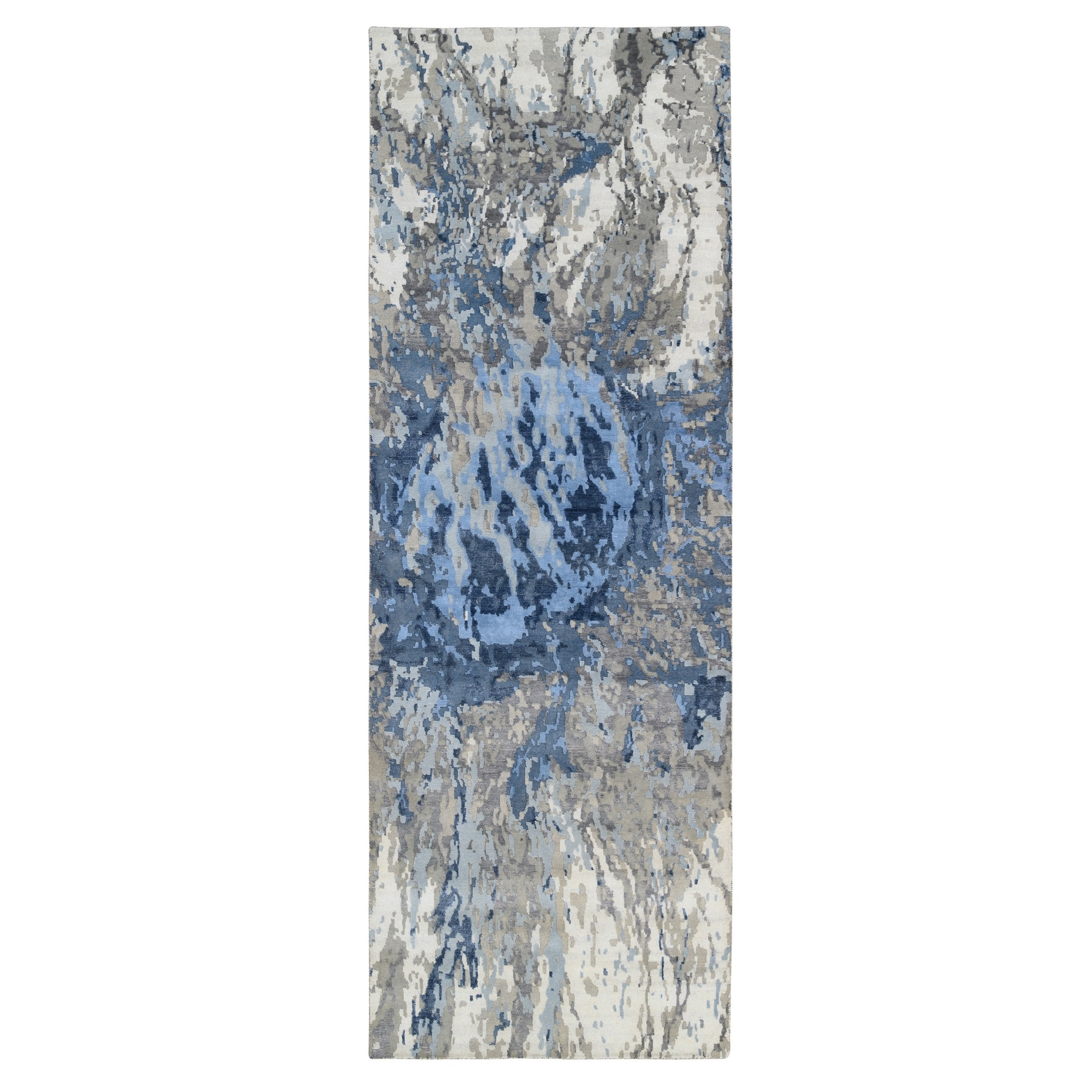 Mid Century Modern Collection Hand Knotted Ivory Rug No: 1126364
