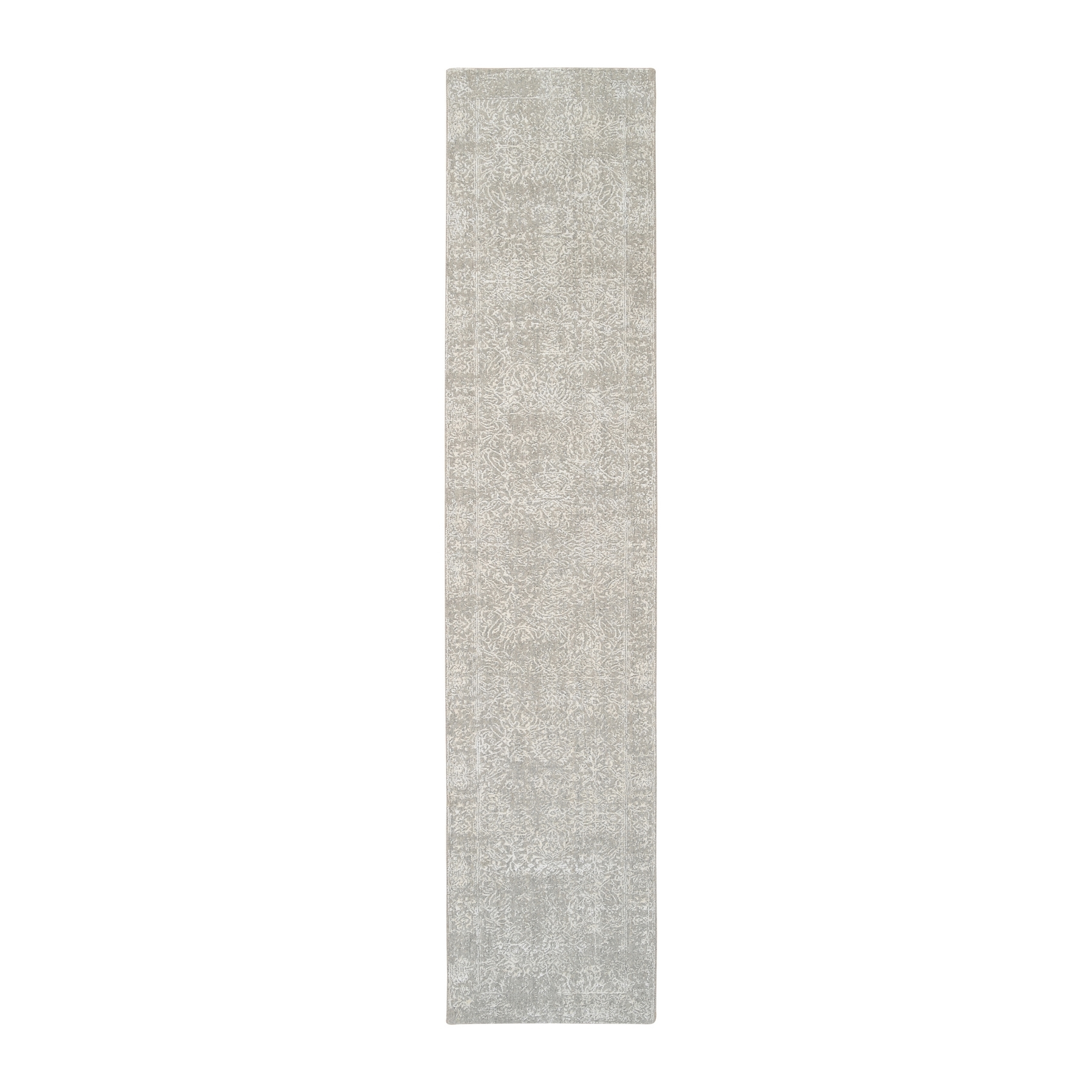 Mid Century Modern Collection Hand Loomed Grey Rug No: 1126556