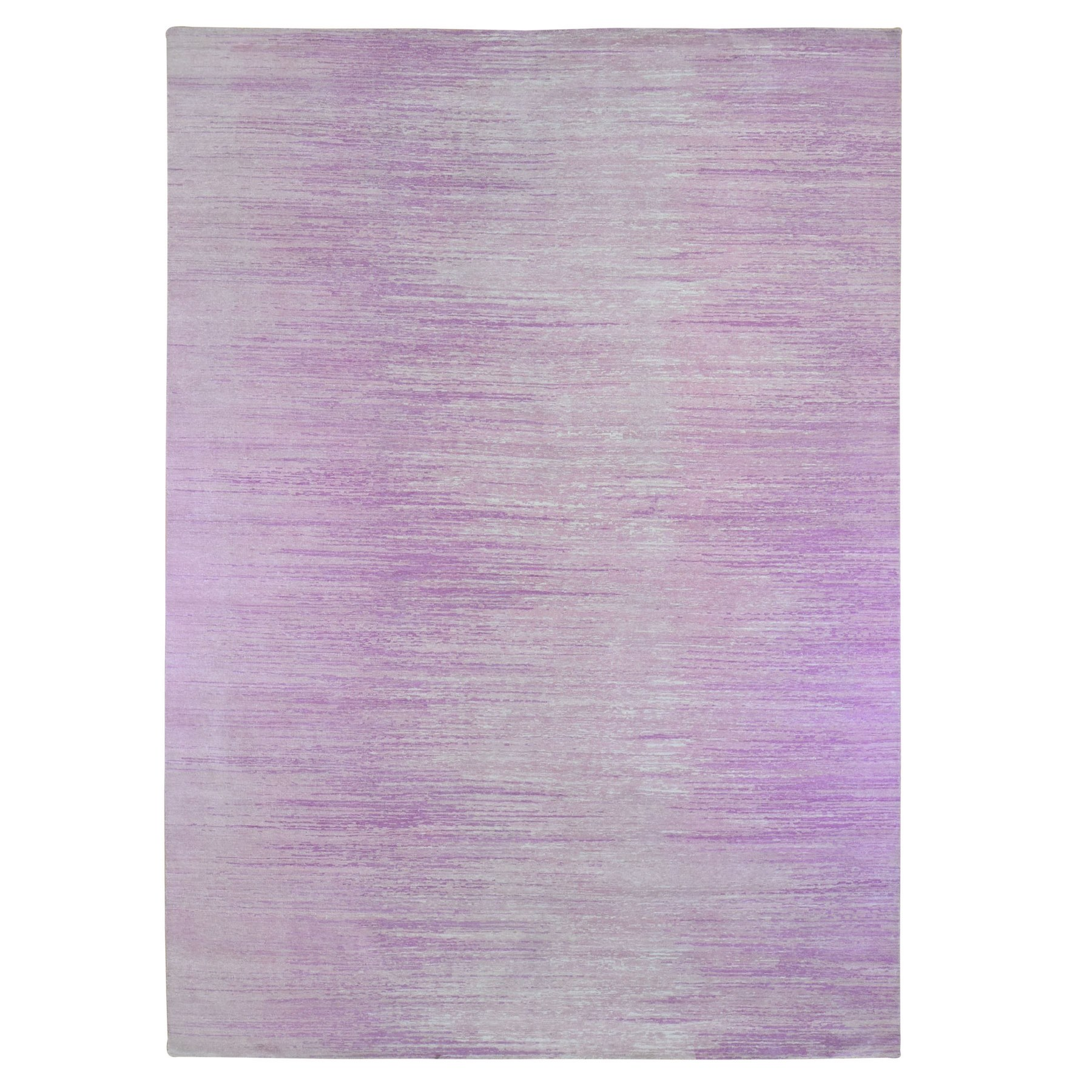 Mid Century Modern Collection Hand Knotted Pink Rug No: 1133696