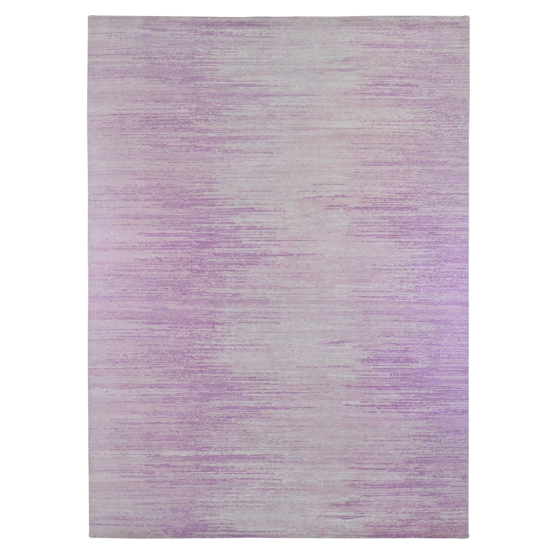 Mid Century Modern Collection Hand Knotted Pink Rug No: 1133698