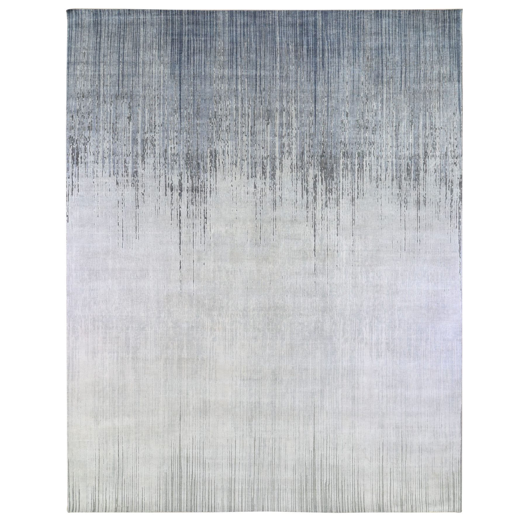 Mid Century Modern Collection Hand Knotted Grey Rug No: 1133700