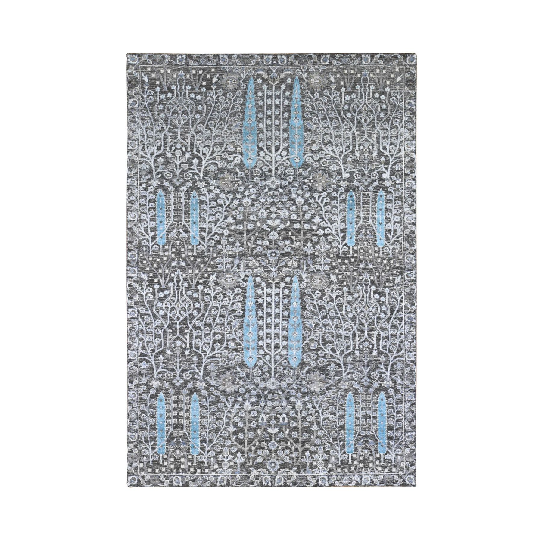 Transitional Hand Knotted Black Rug No: 1133712