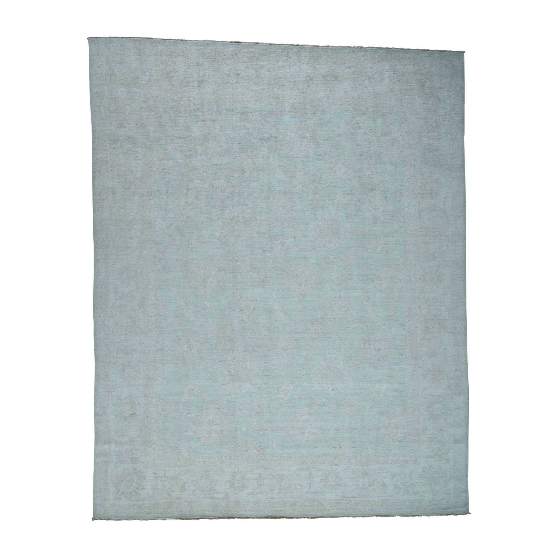Transitional Collection Hand Knotted Teal Rug No: 0173702