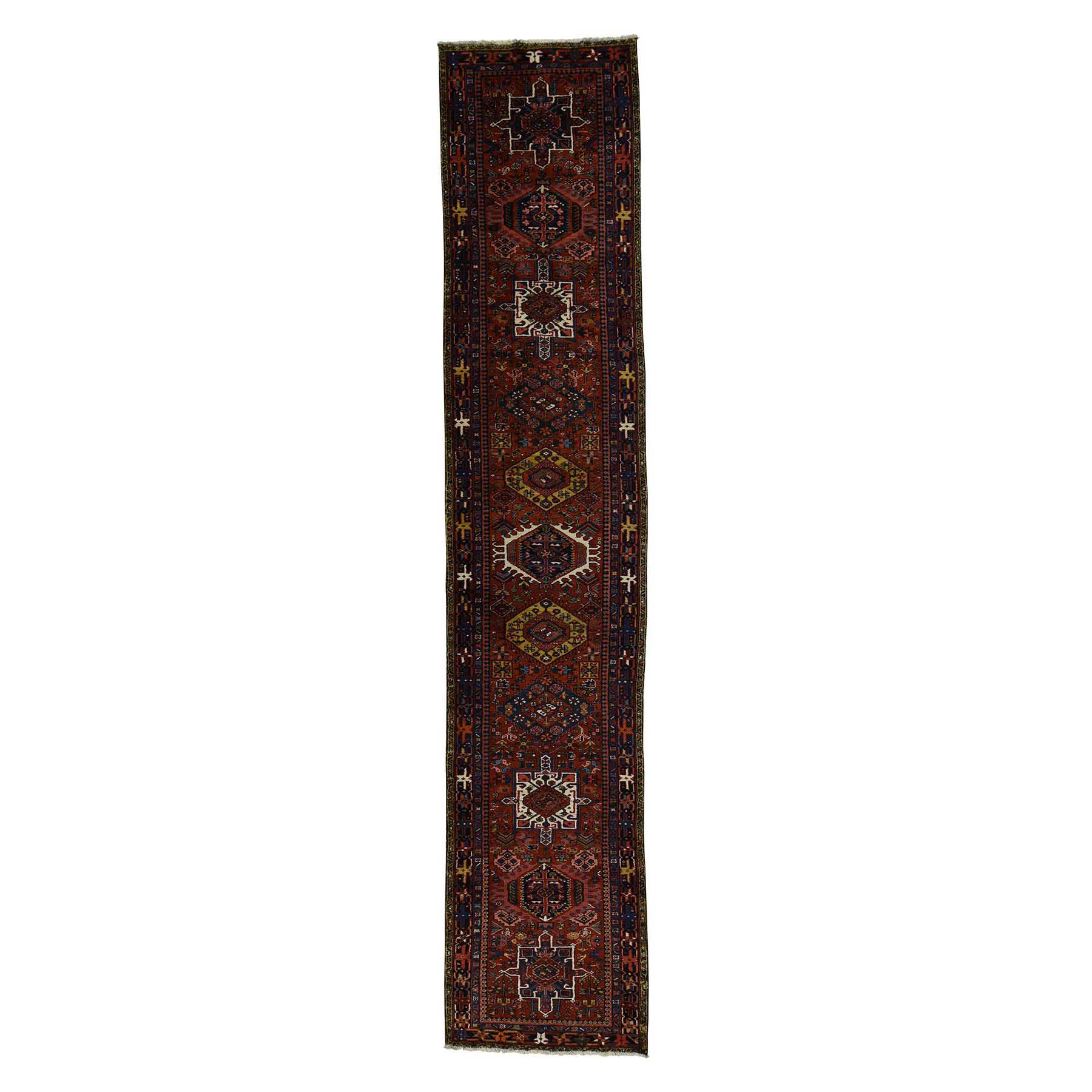 Antique Collection Hand Knotted Red Rug No: 173752