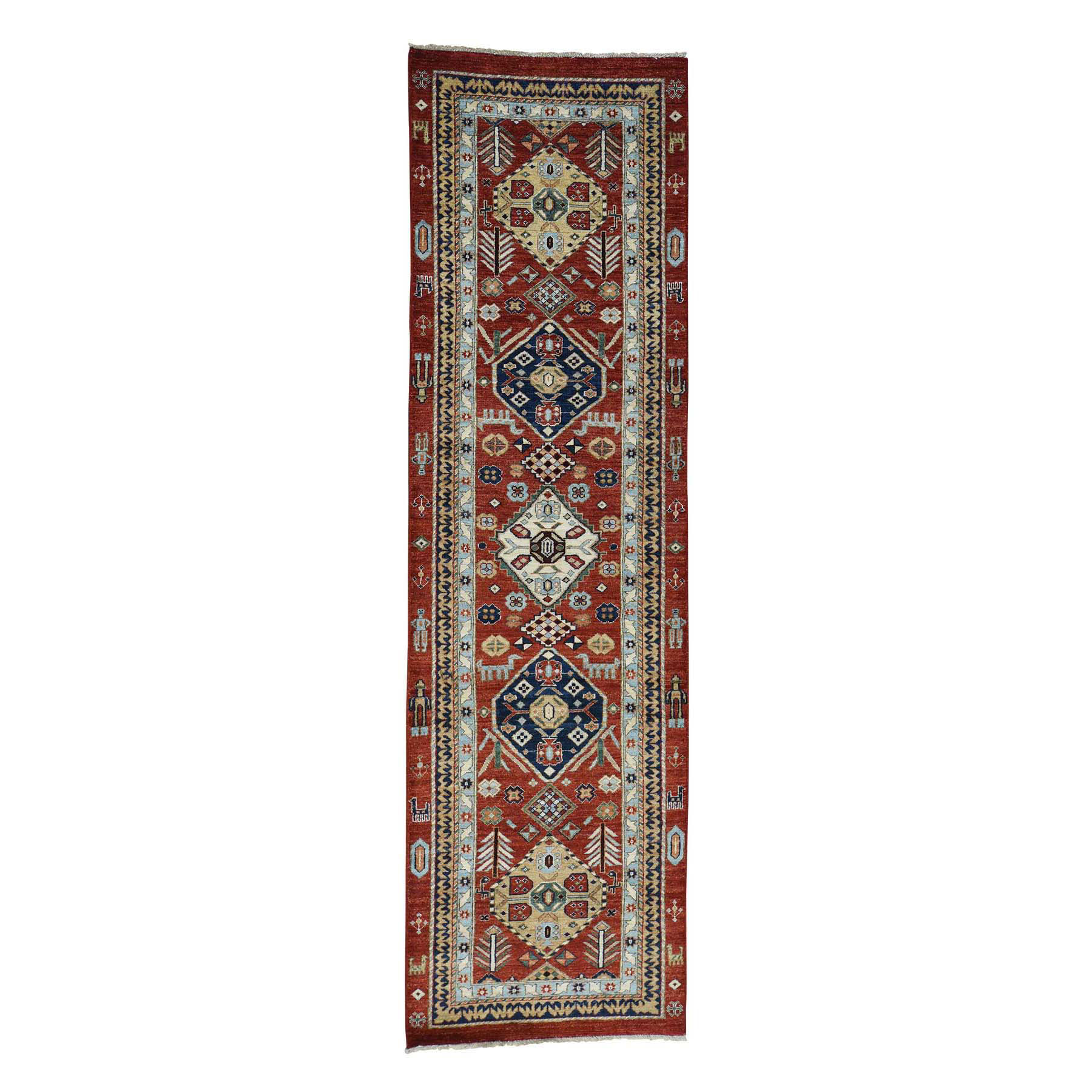 Nomadic And Village Collection Hand Knotted Red Rug No: 0174034