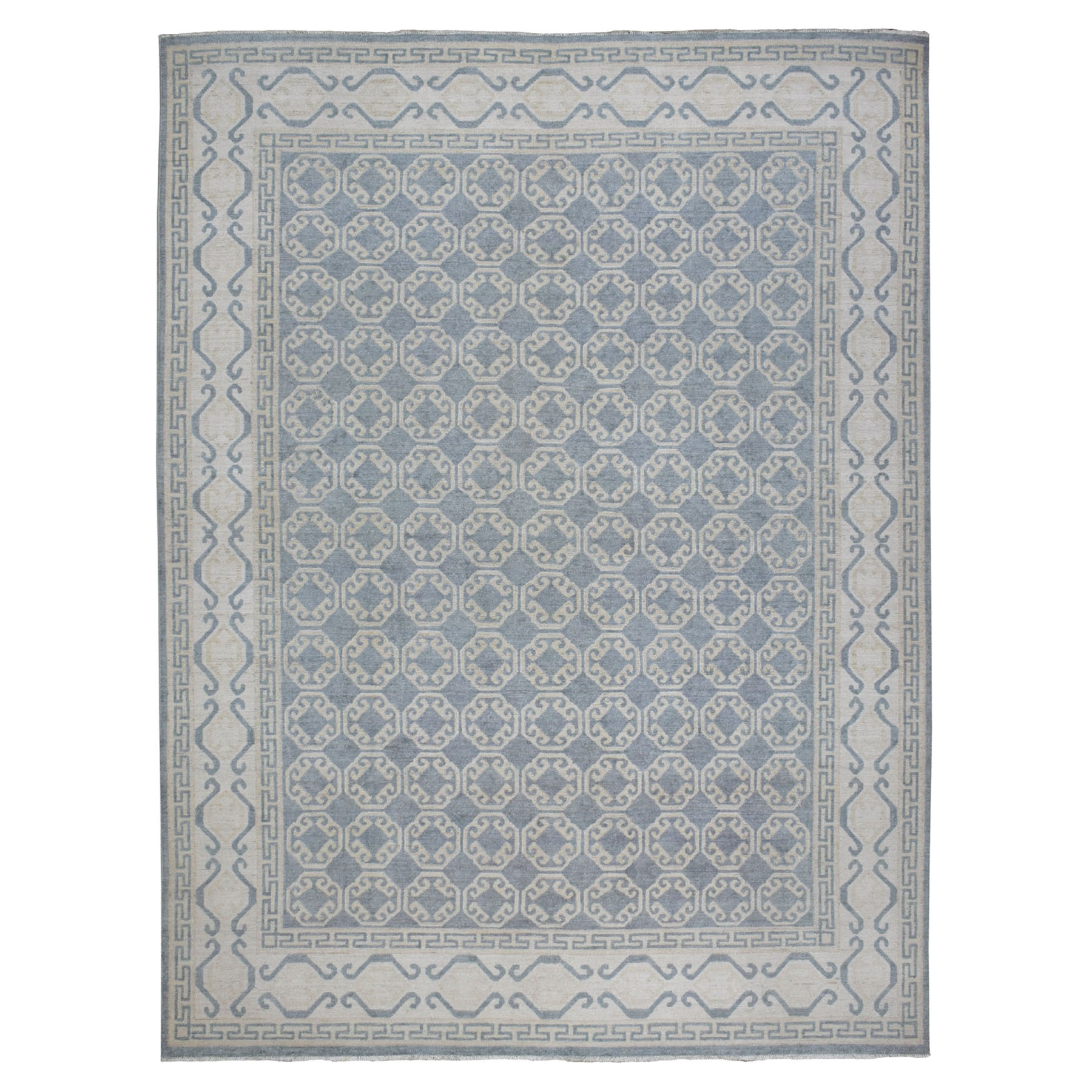 Agra And Turkish Collection Hand Knotted Grey Rug No: 1107934