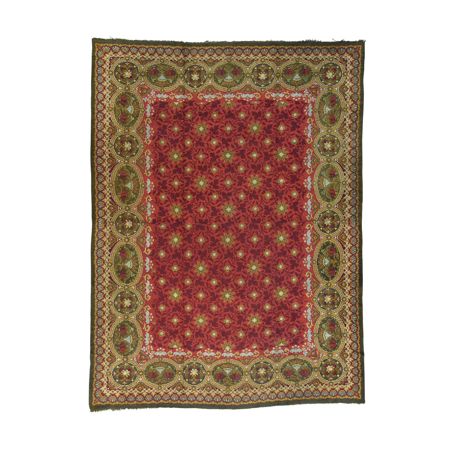 Antique Collection Hand Knotted Red Rug No: 164042