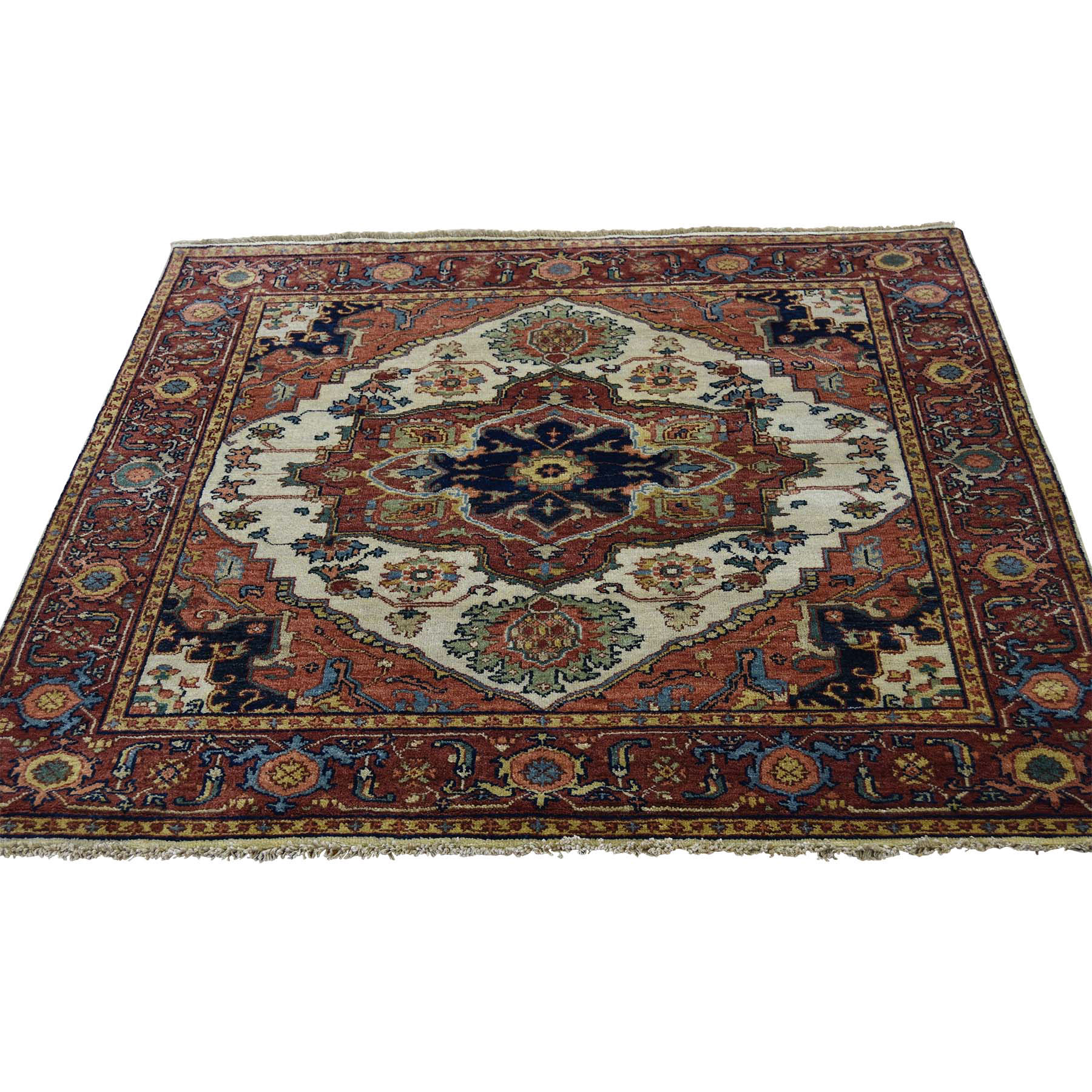 Serapi Heriz and Bakhshayesh Collection Hand Knotted Ivory Rug No: 174988