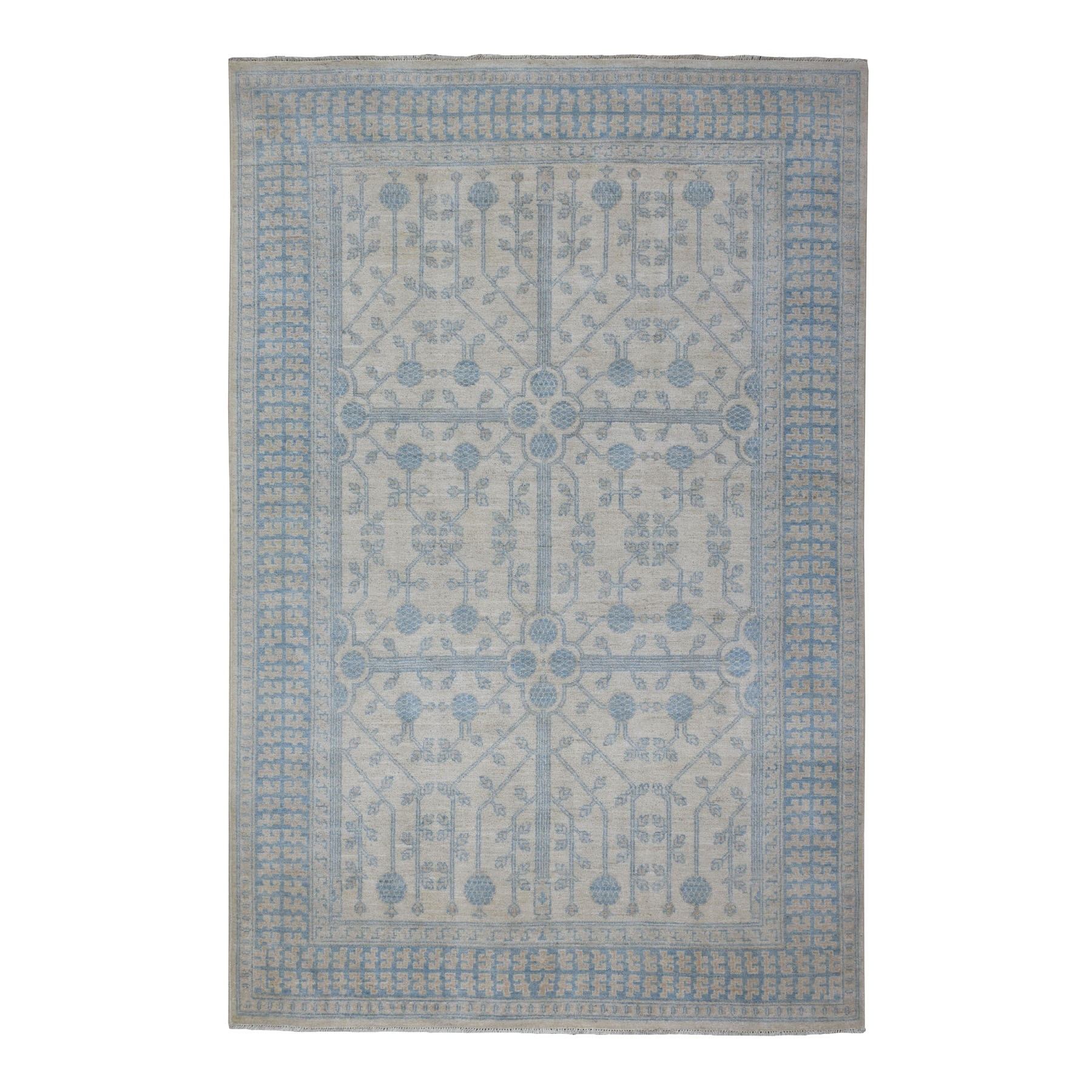 Agra And Turkish Collection Hand Knotted Ivory Rug No: 1108582