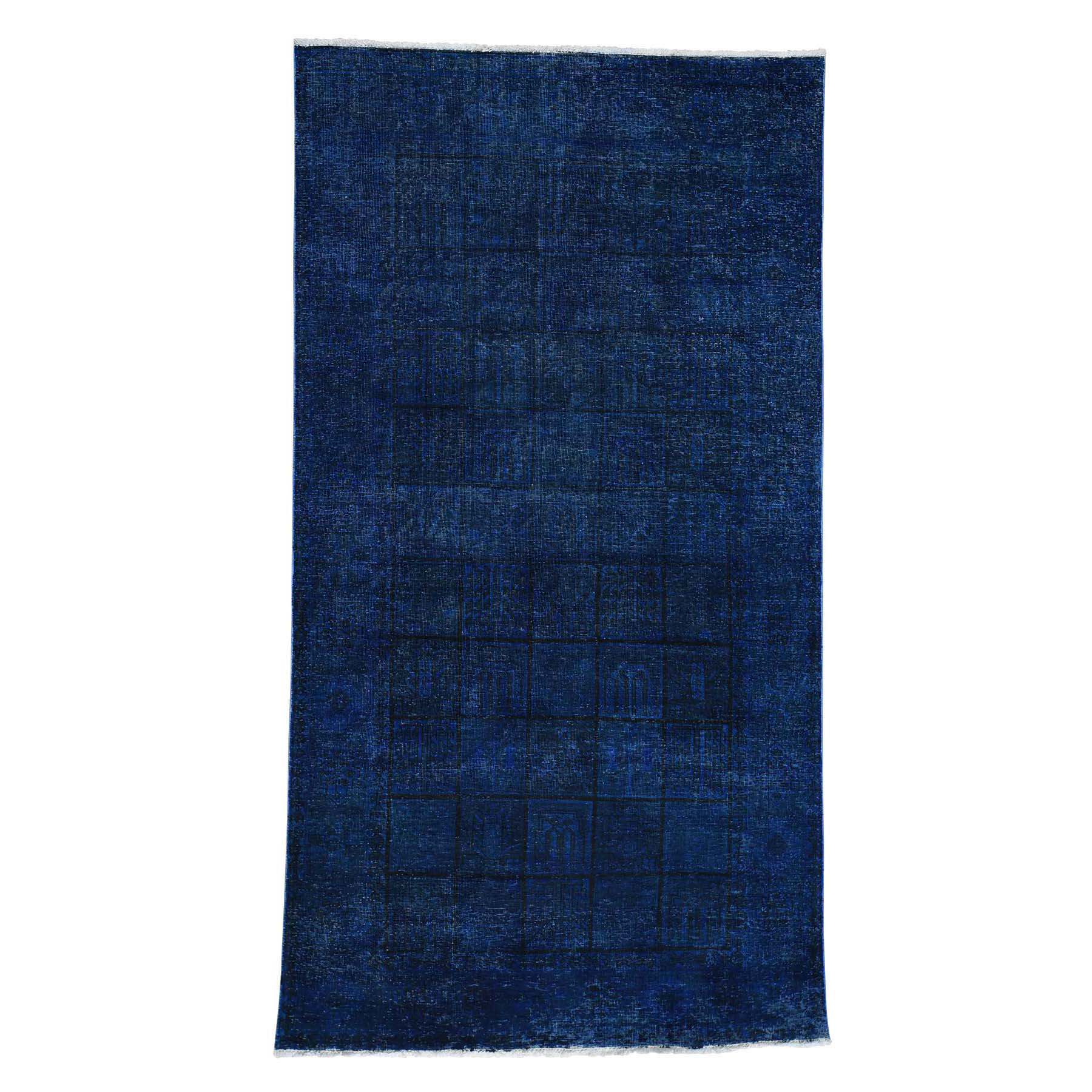 Fetneh Collection And Vintage Overdyed Collection Hand Knotted Blue Rug No: 0175272