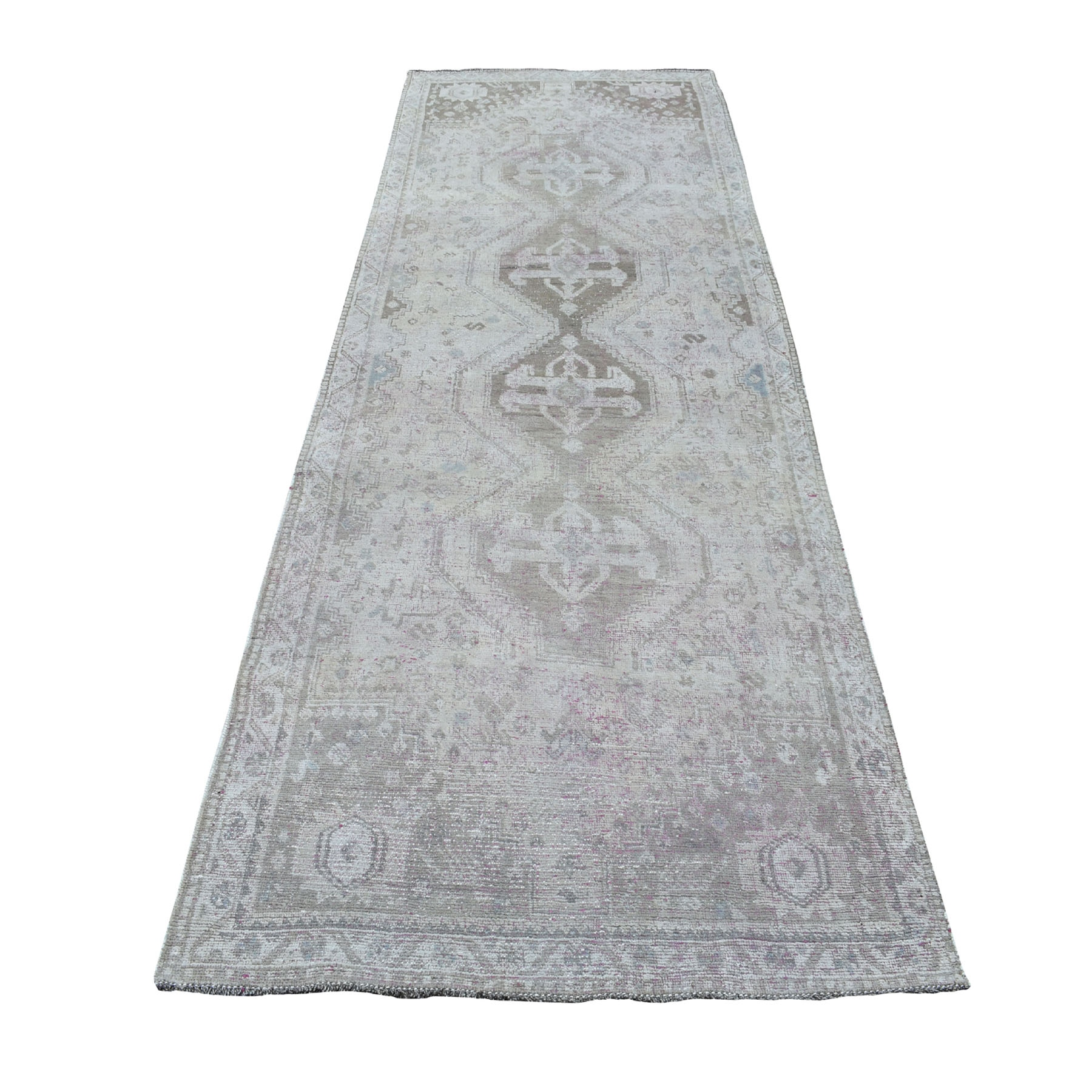 Fetneh Collection And Vintage Overdyed Collection Hand Knotted Grey Rug No: 1108156