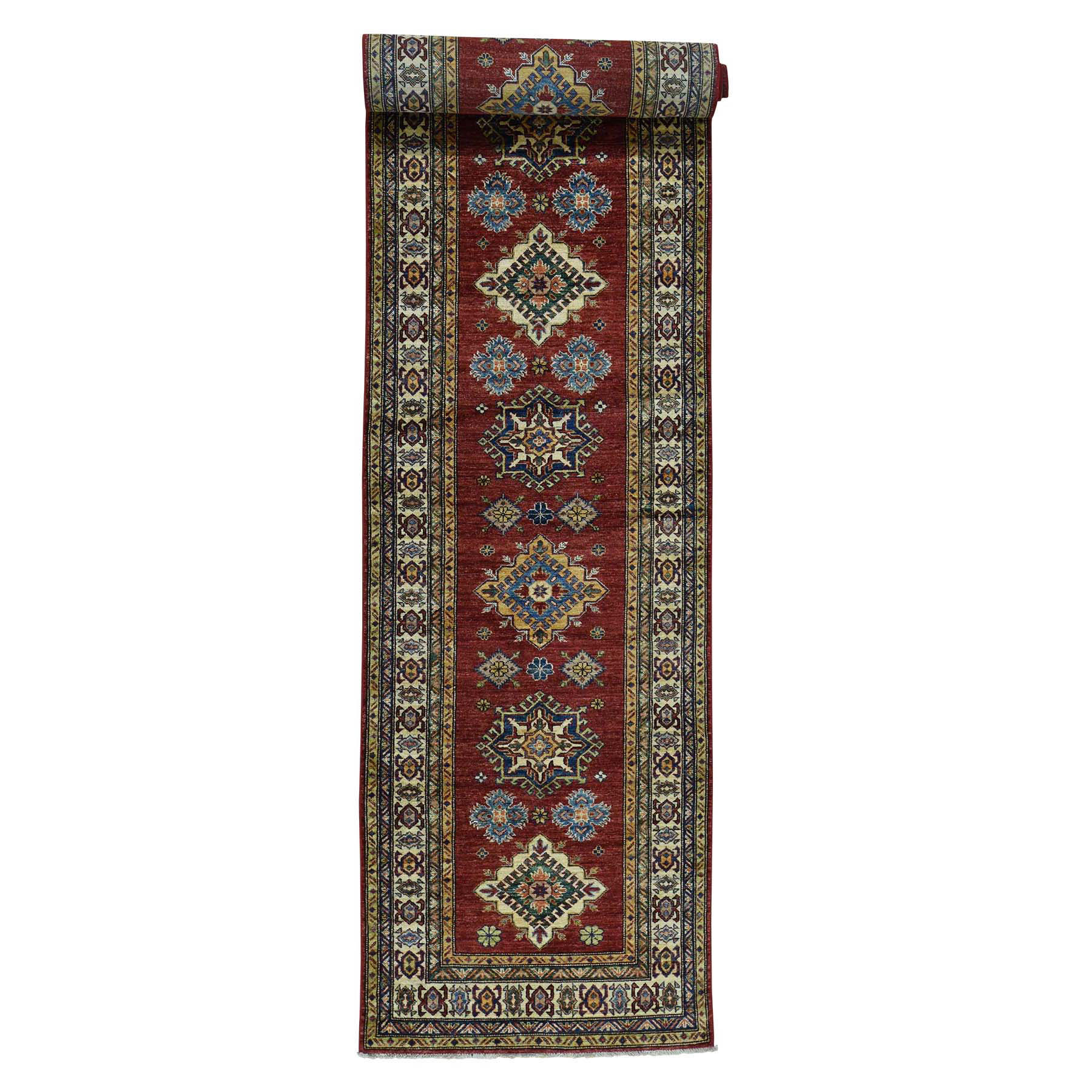 Caucasian Collection Hand Knotted Red Rug No: 0175628