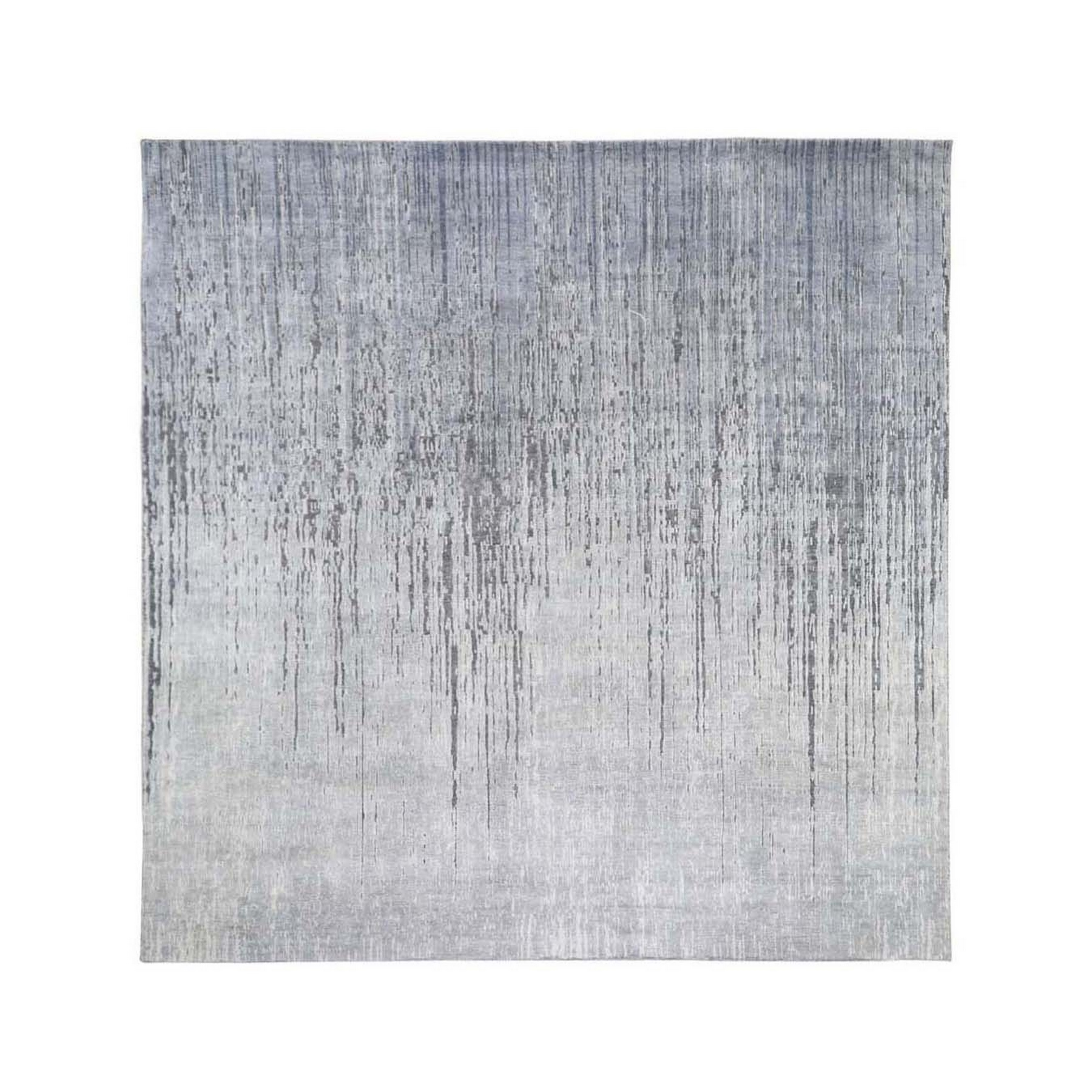 Mid Century Modern Collection Hand Knotted Grey Rug No: 197822