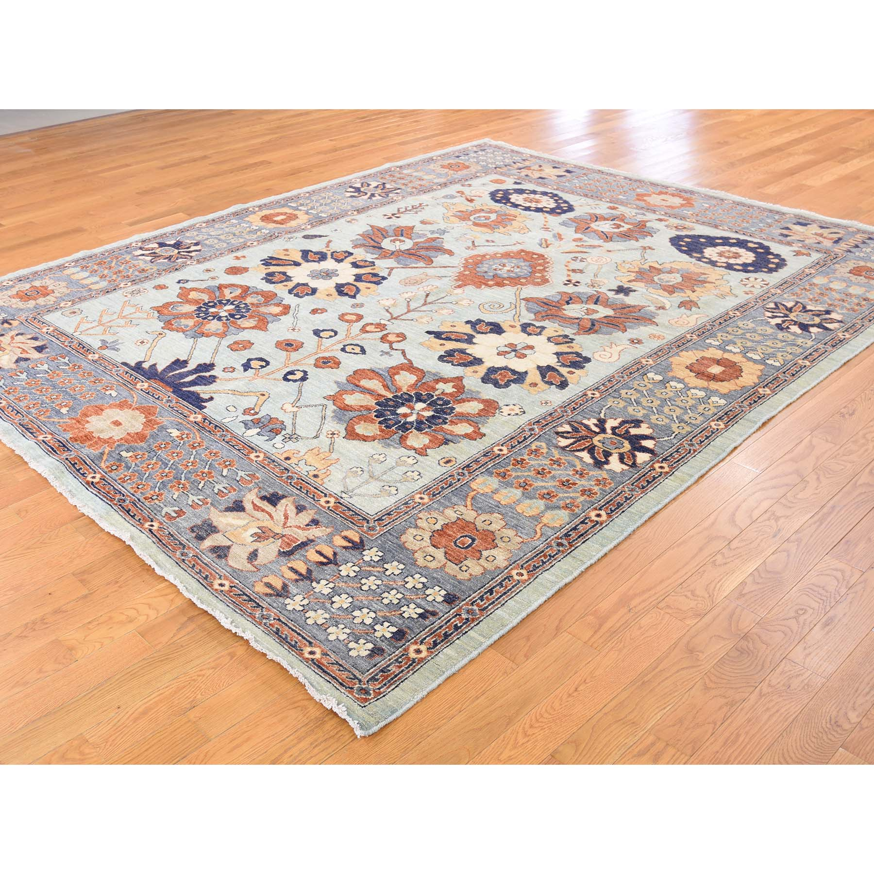 Agra And Turkish Collection Hand Knotted Blue 0176834 Rug