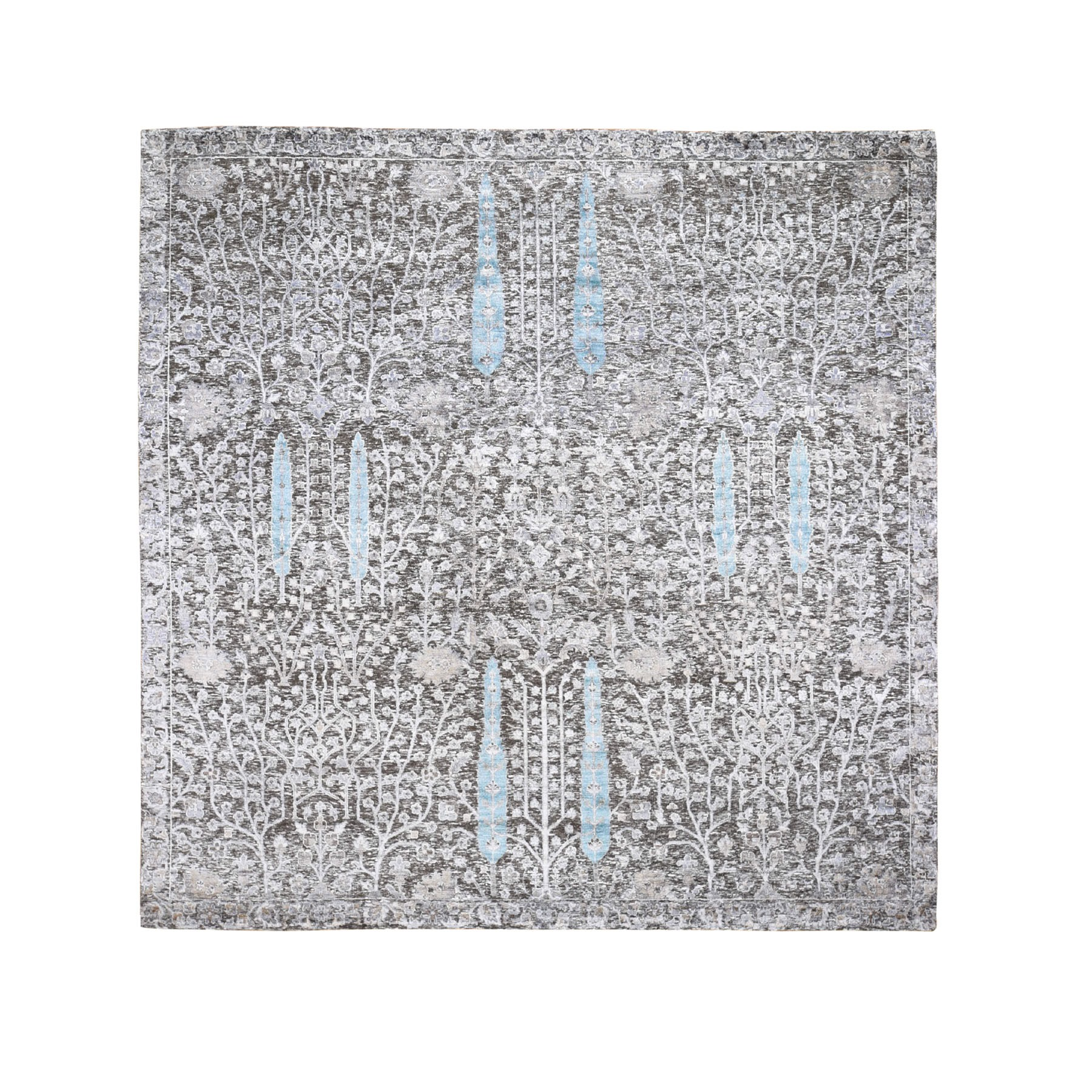 Transitional Hand Knotted Brown Rug No: 197886