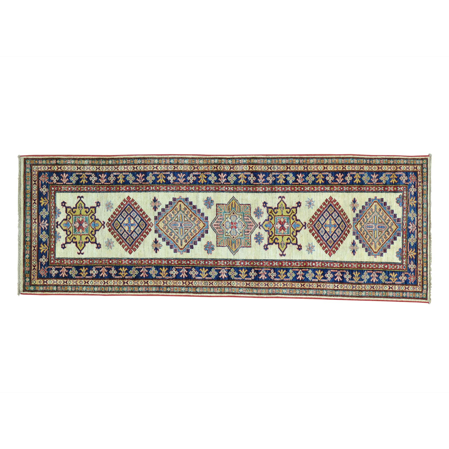 Caucasian Collection Hand Knotted Ivory Rug No: 0151534