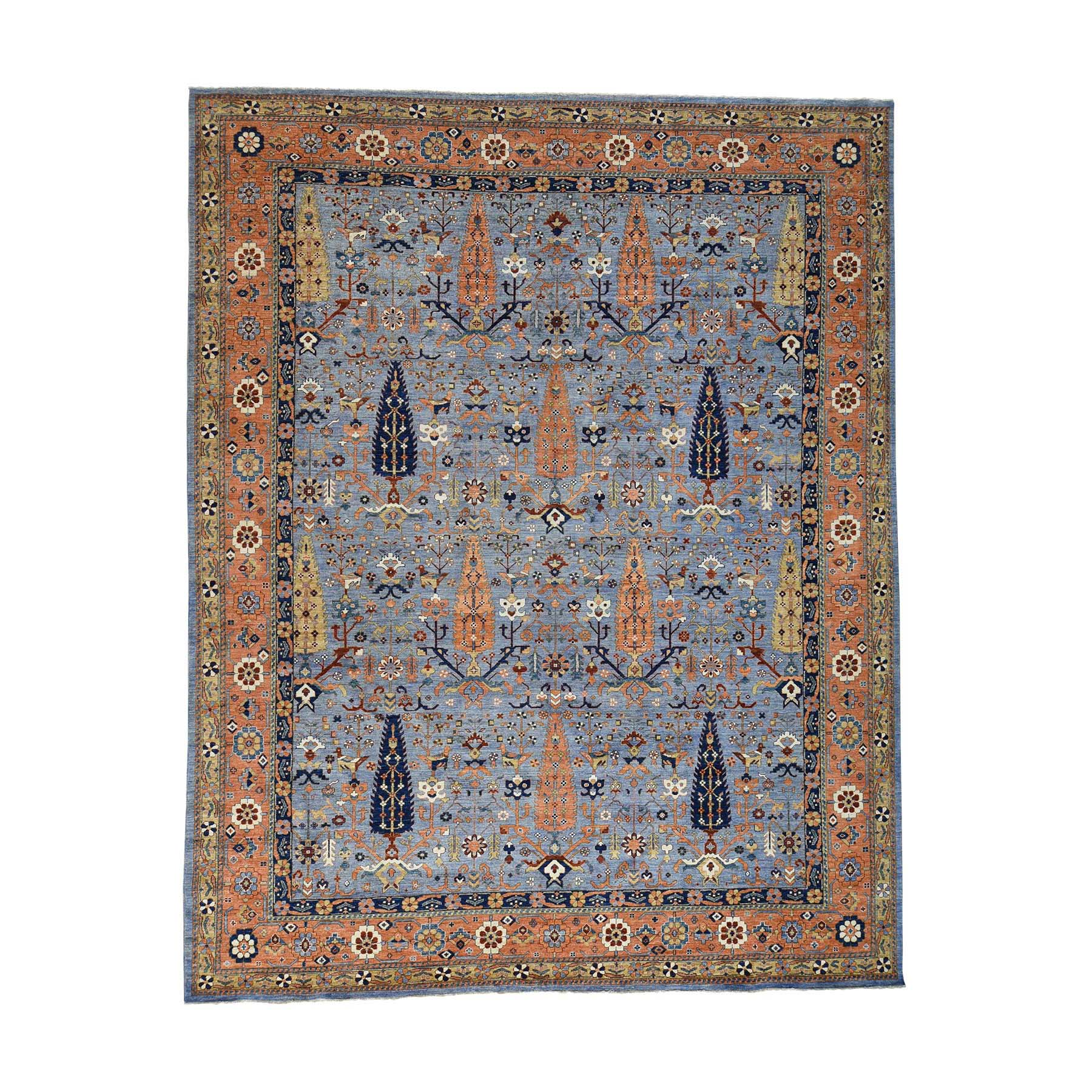 Agra And Turkish Collection Hand Knotted Blue 0176794 Rug