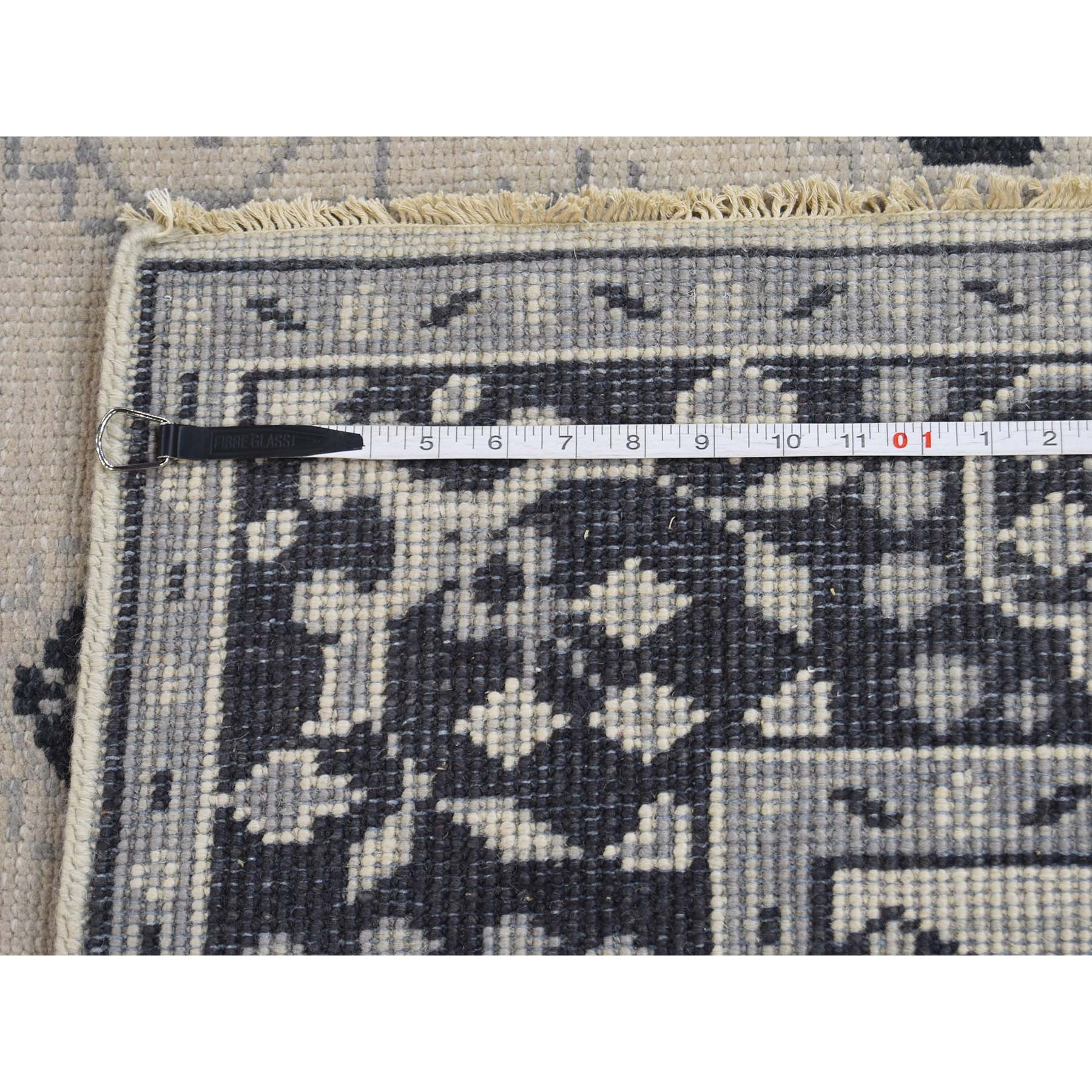 Agra And Turkish Collection Hand Knotted Ivory 0177056 Rug