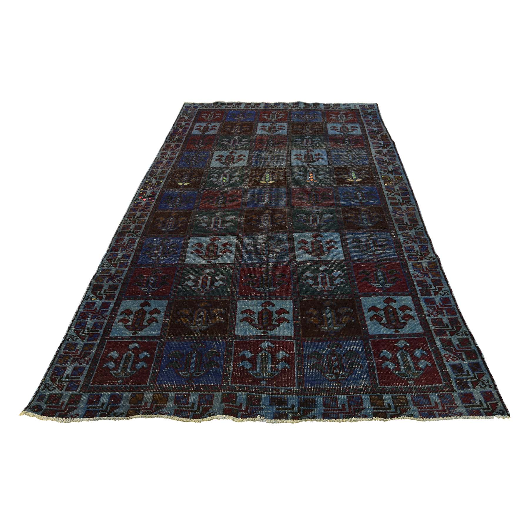 Fetneh Collection And Vintage Overdyed Collection Hand Knotted Green Rug No: 0177086
