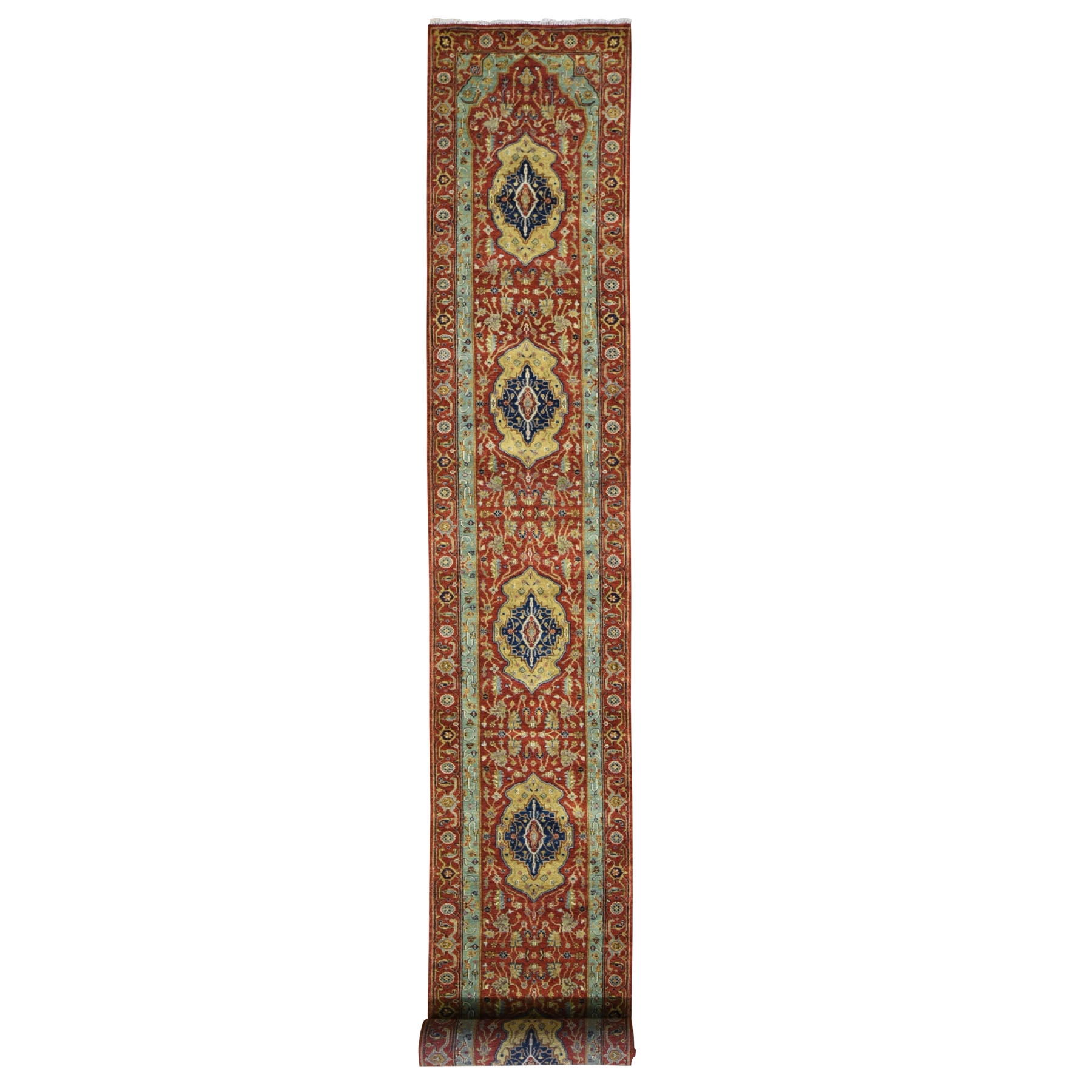 Serapi Heriz and Bakhshayesh Collection Hand Knotted Red Rug No: 198312