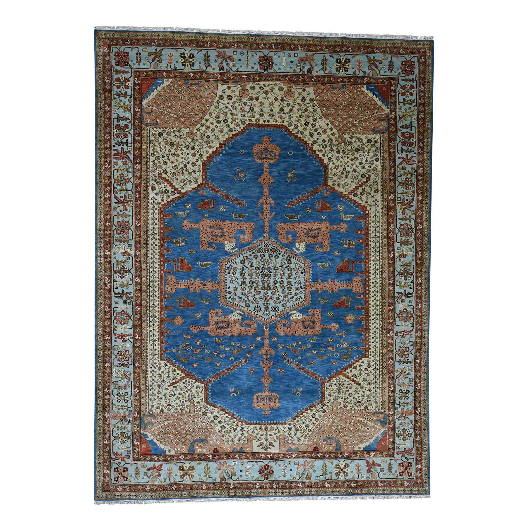 Serapi Heriz and Bakhshayesh Collection Hand Knotted Blue Rug No: 0180772