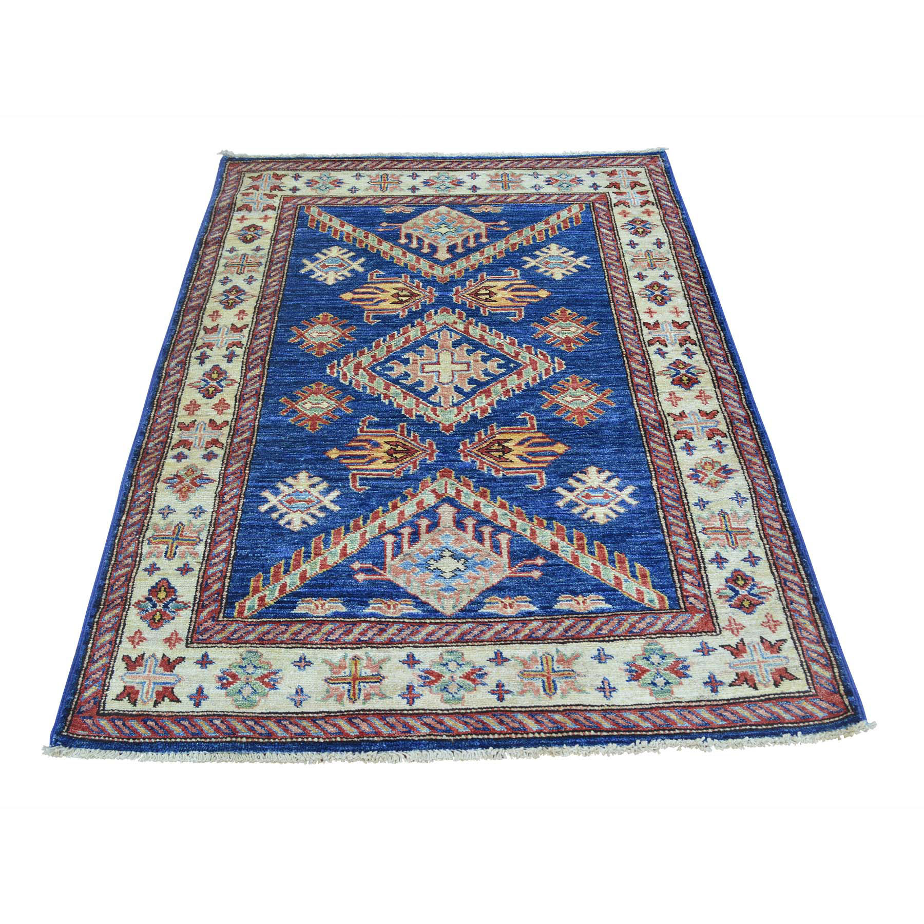 Caucasian Collection Hand Knotted Blue Rug No: 0151692