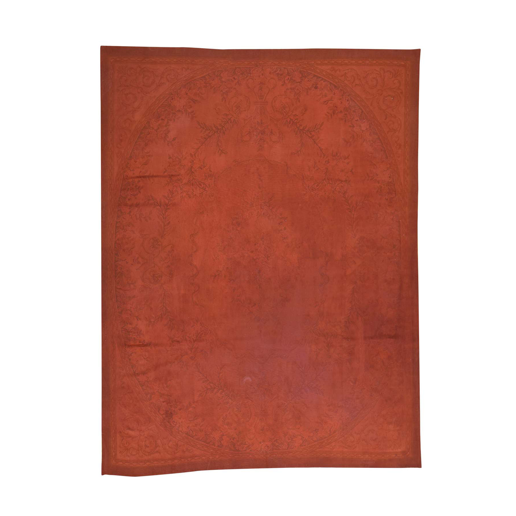 Elegant European Collection Hand Woven Red Rug No: 163850