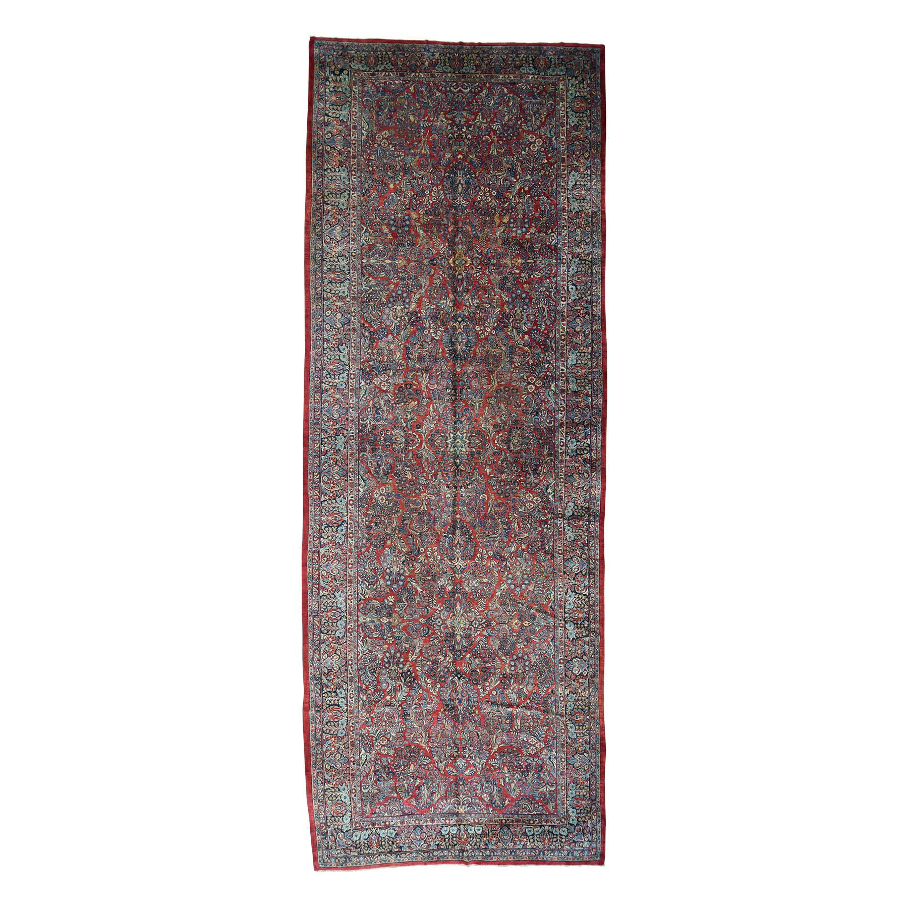 Antique Collection Hand Knotted Red Rug No: 164264