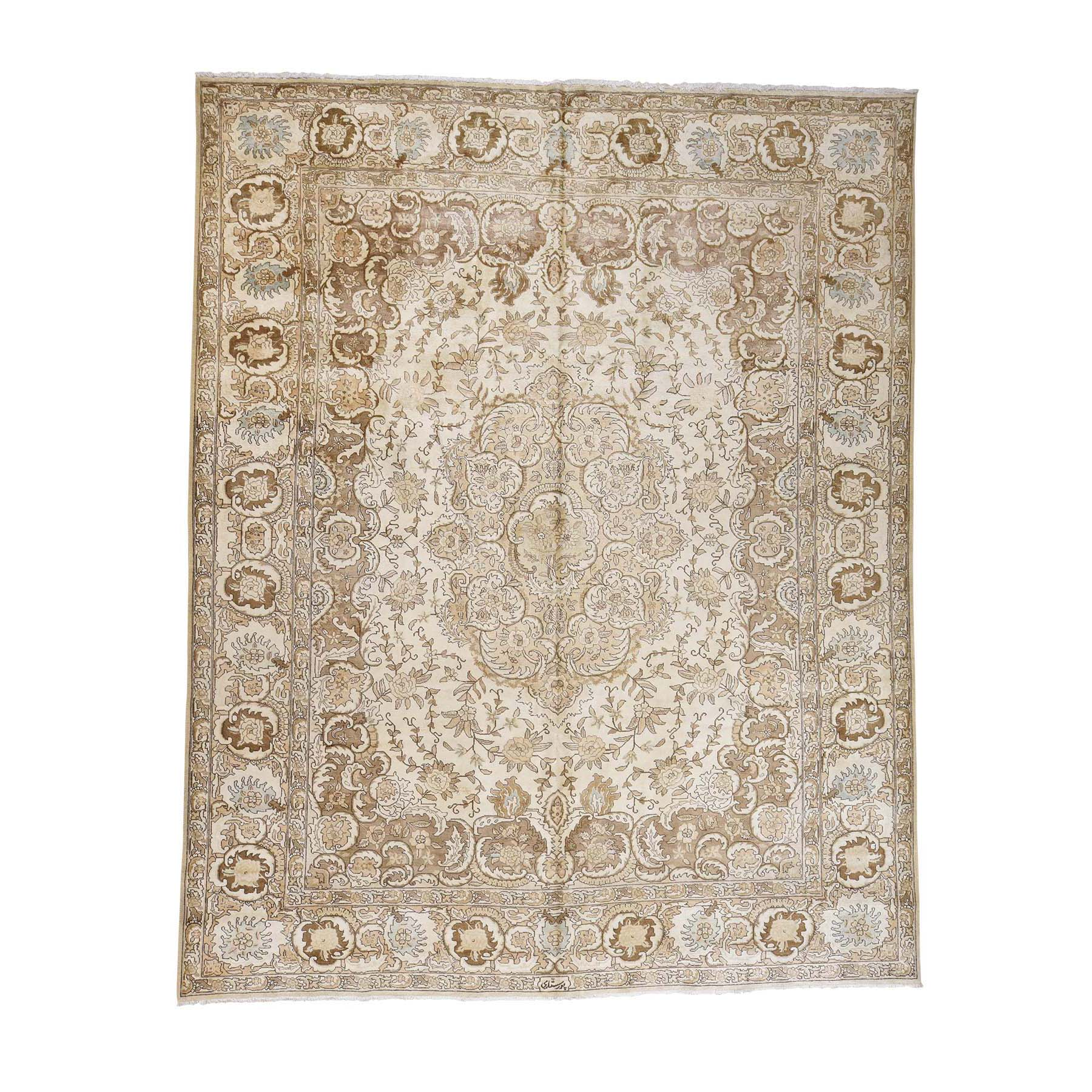 Transitional Collection Hand Knotted Beige Rug No: 0177842