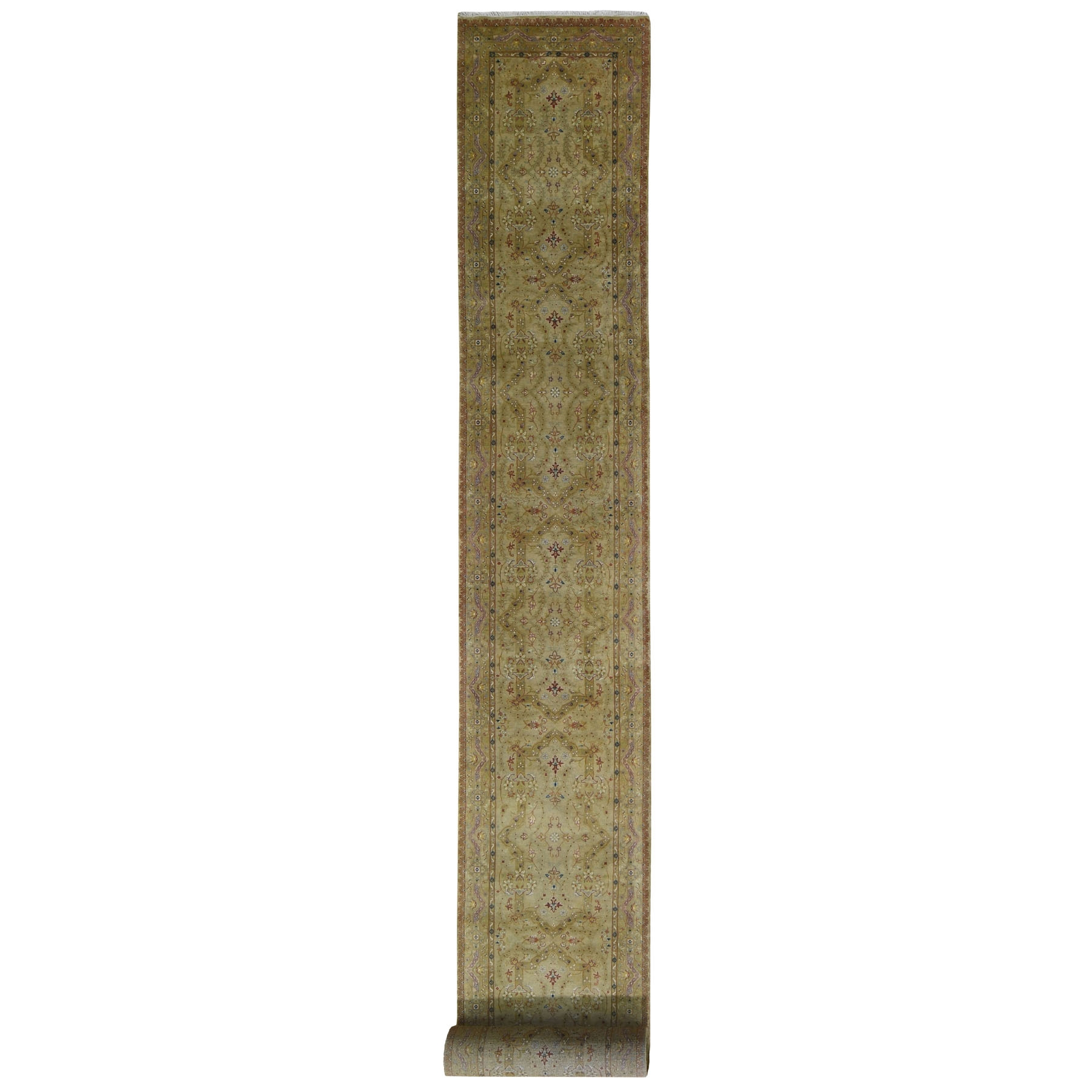 Pirniakan Collection Hand Knotted Green Rug No: 199314
