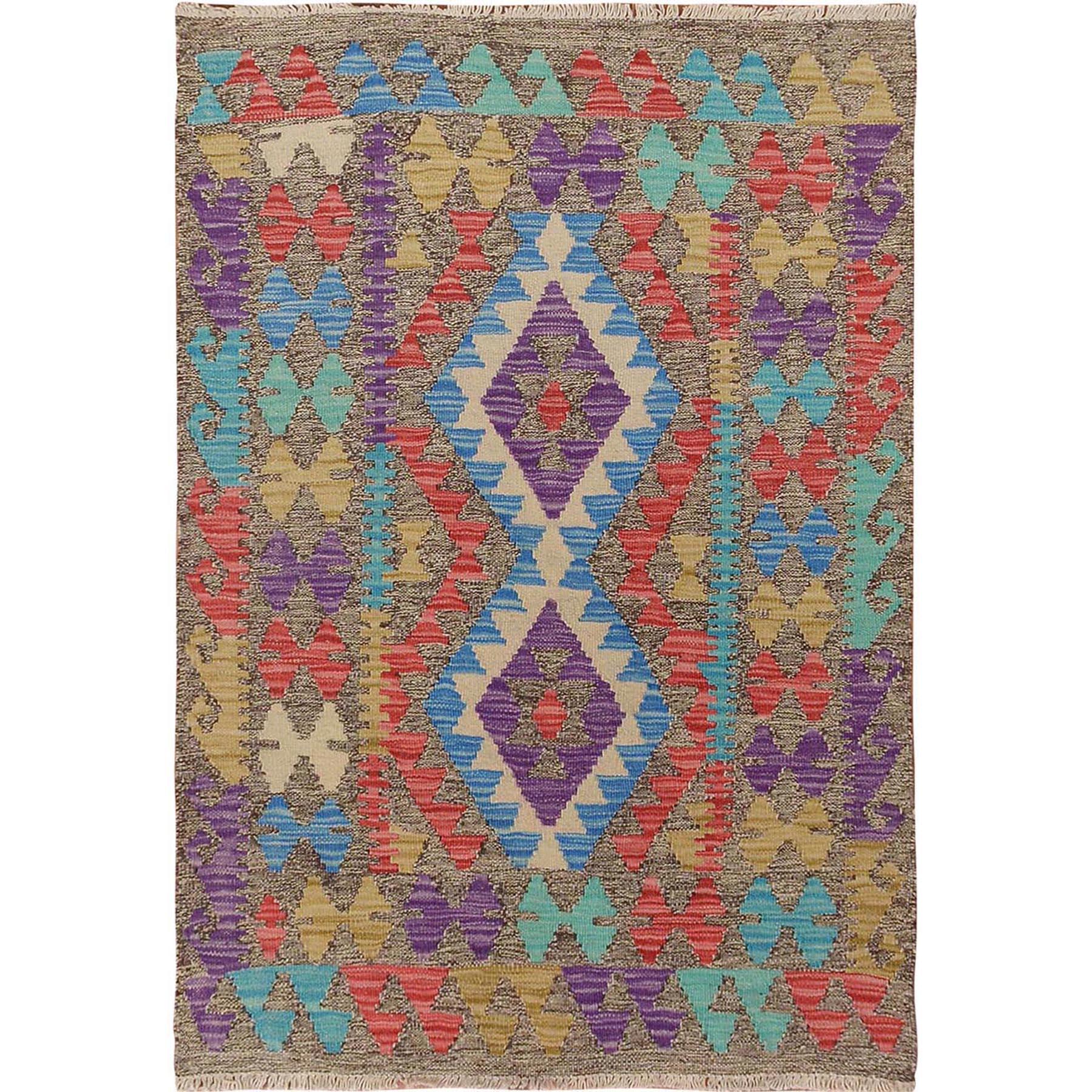 Fine Kilim Collection Hand Woven Purple Rug No: 1115090